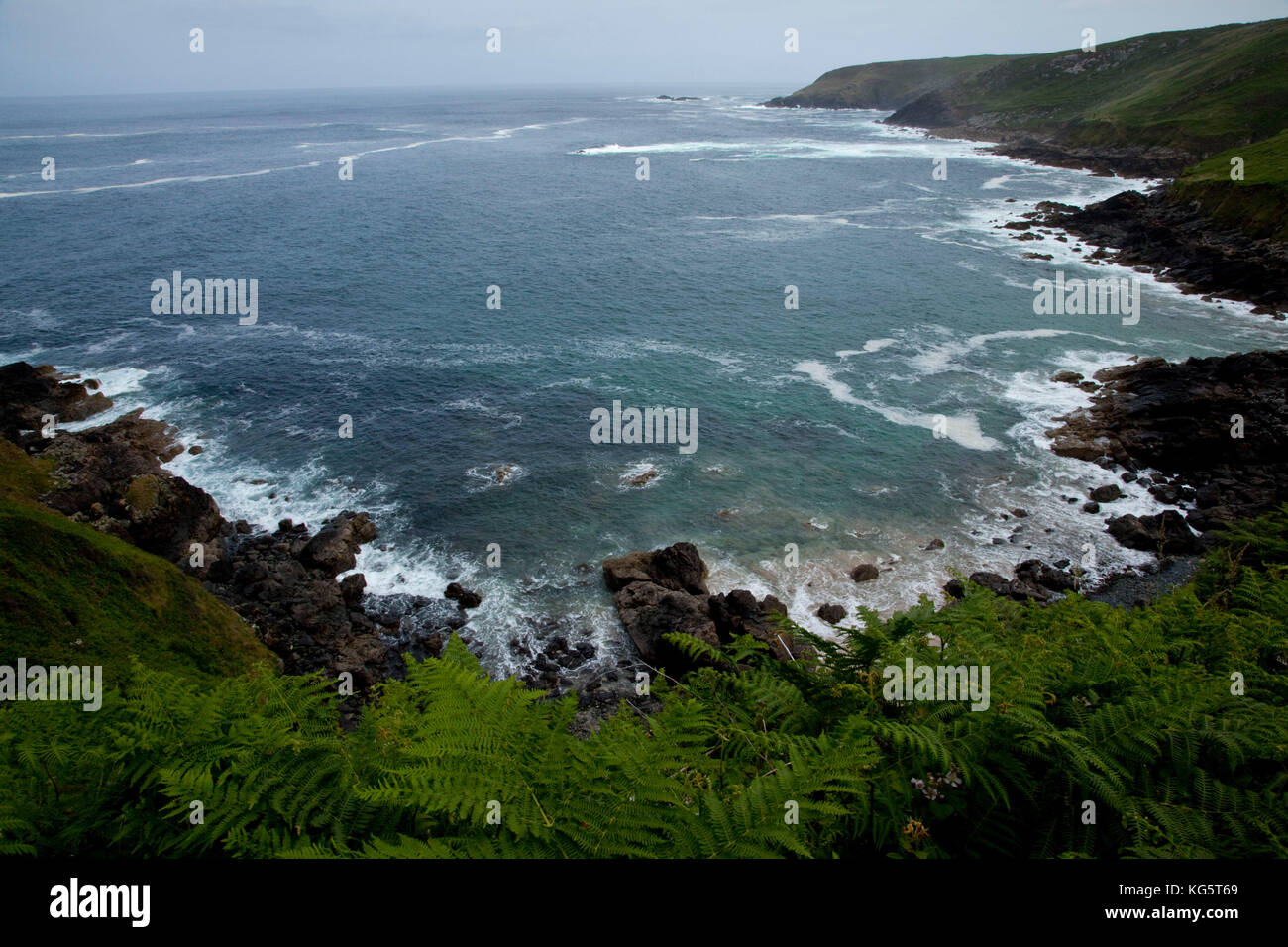 A view from the National South West Coastal Path above Zennor, Cornwall, England. - Stock Image