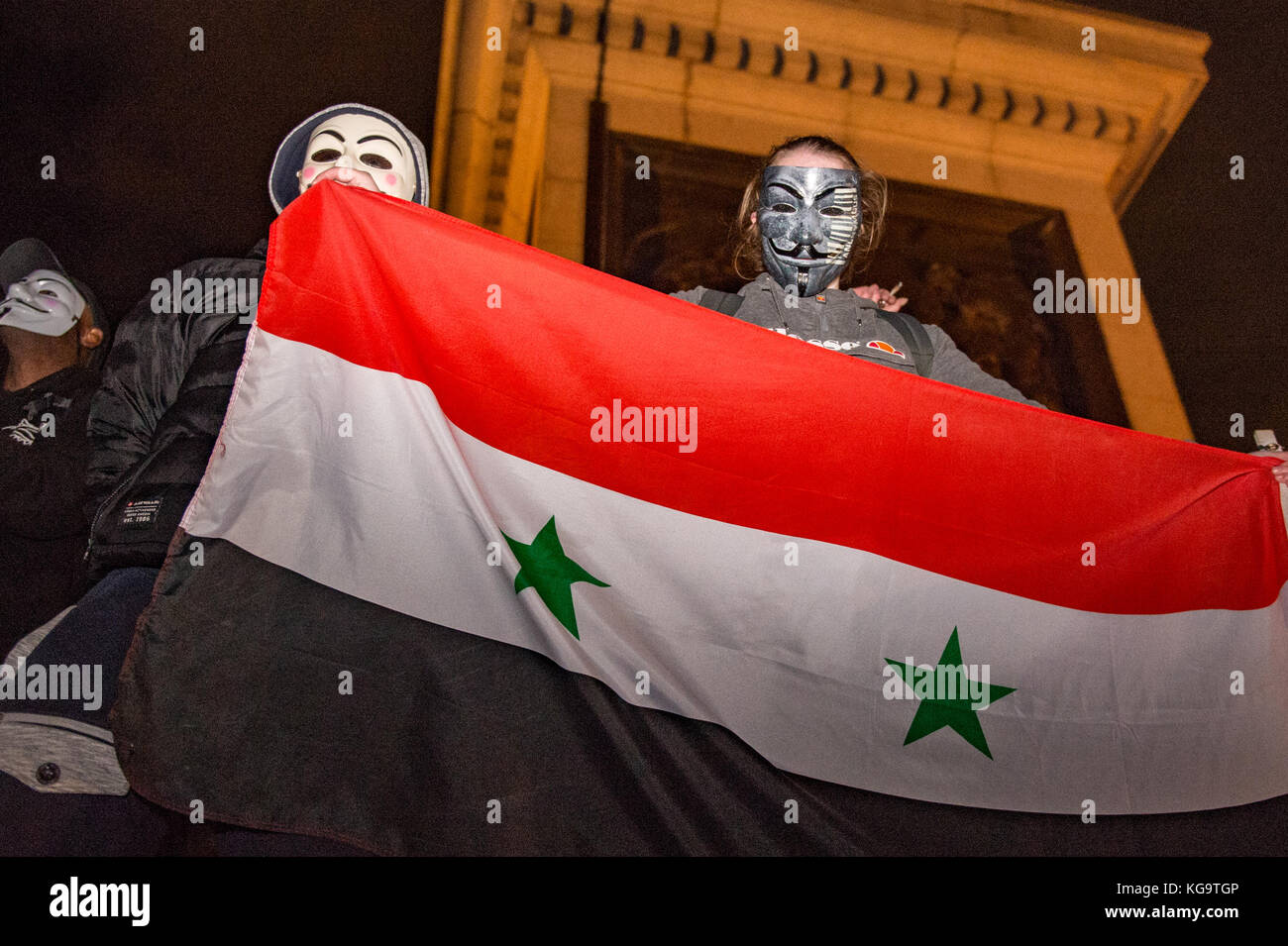 London, United Kingdom. 05th Nov, 2017. Million Mask March 2017 takes place in central London. Credit: Peter Manning/Alamy - Stock Image