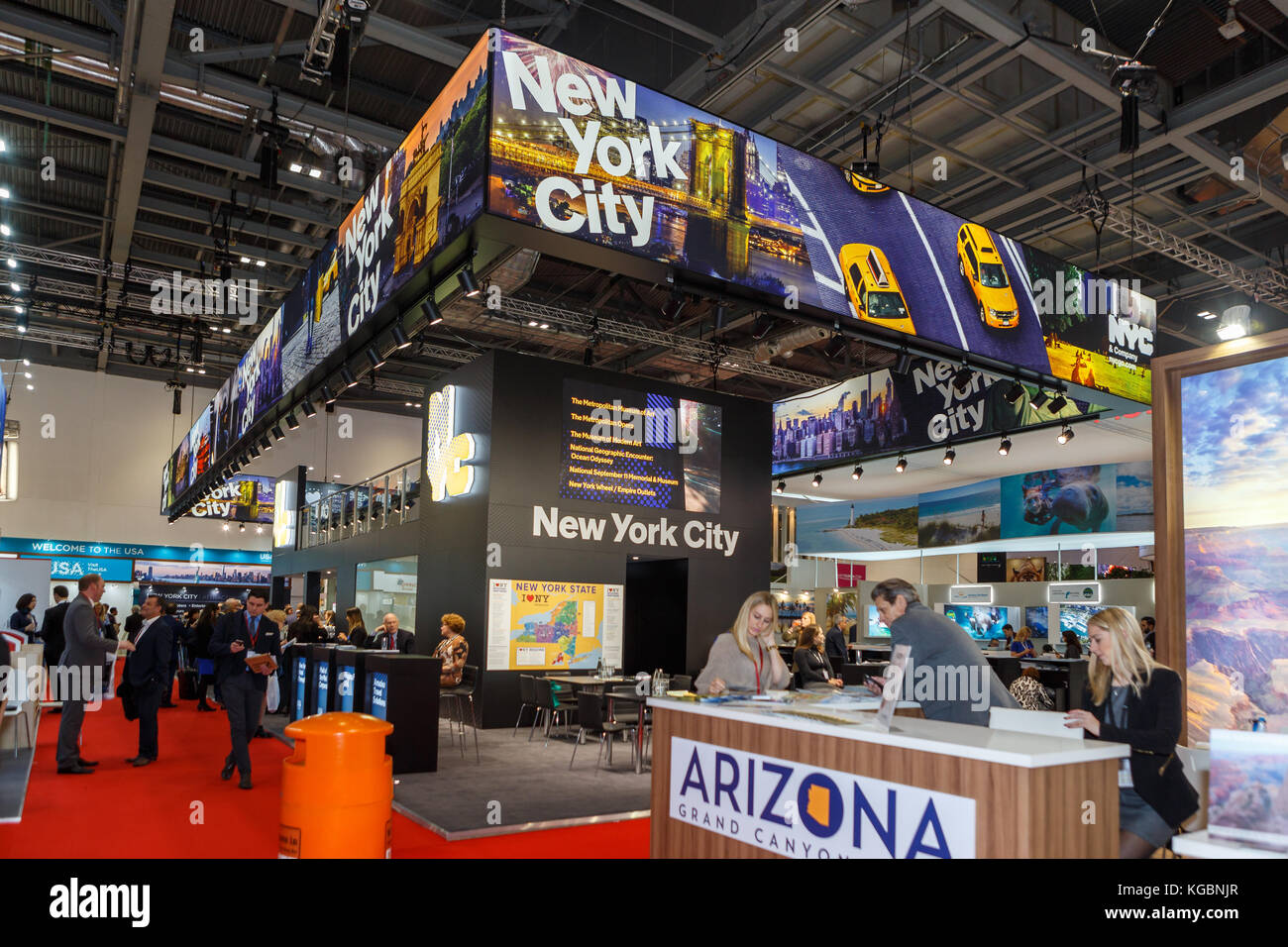 London, UK. 6th November 2017. Excel London, World Travel Market London is the leading global event for the travel - Stock Image