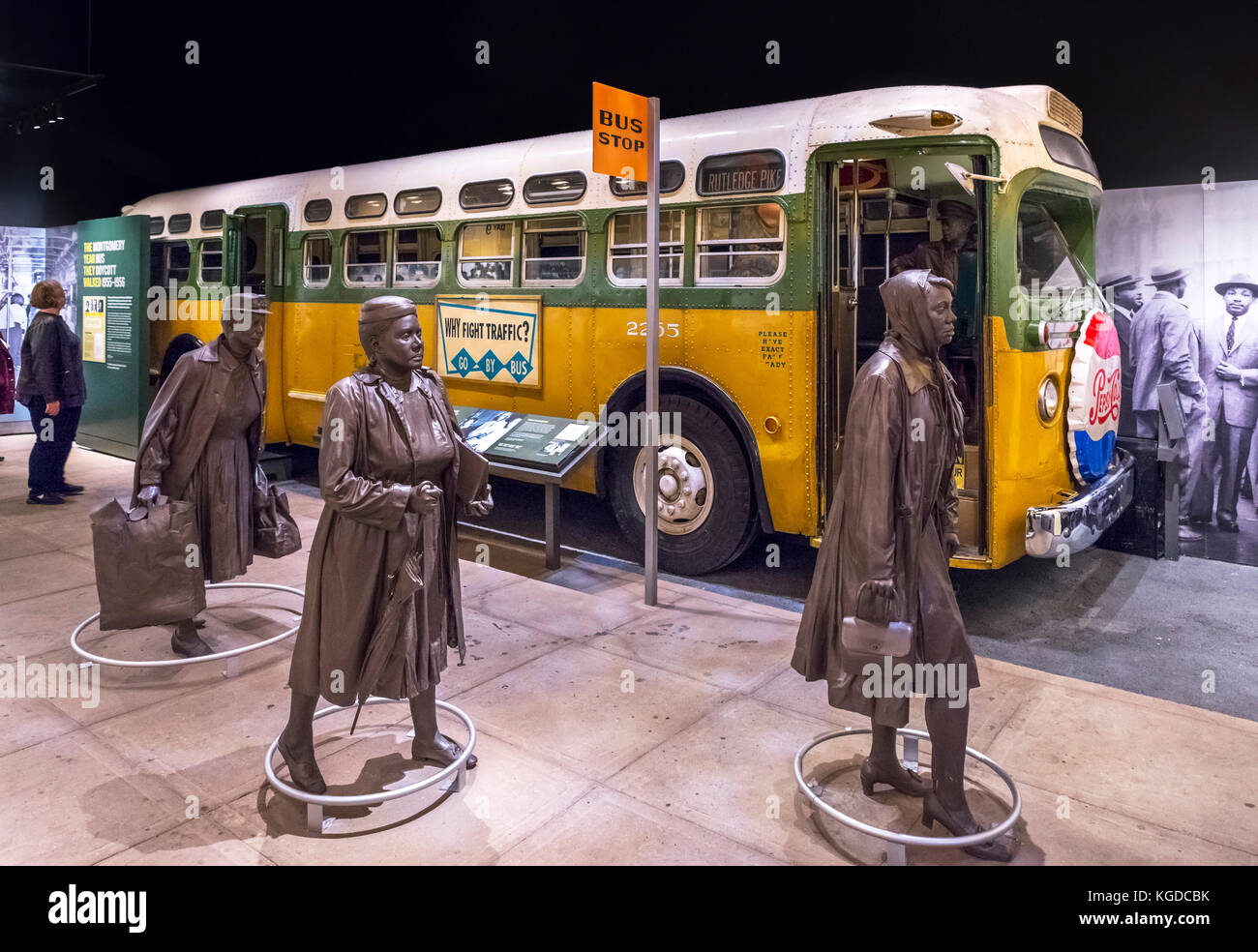 montgomery bus boycott Newly discovered documents that were tucked away and almost forgotten in a family's attic for decades show the financial impact of the montgomery bus boycott.
