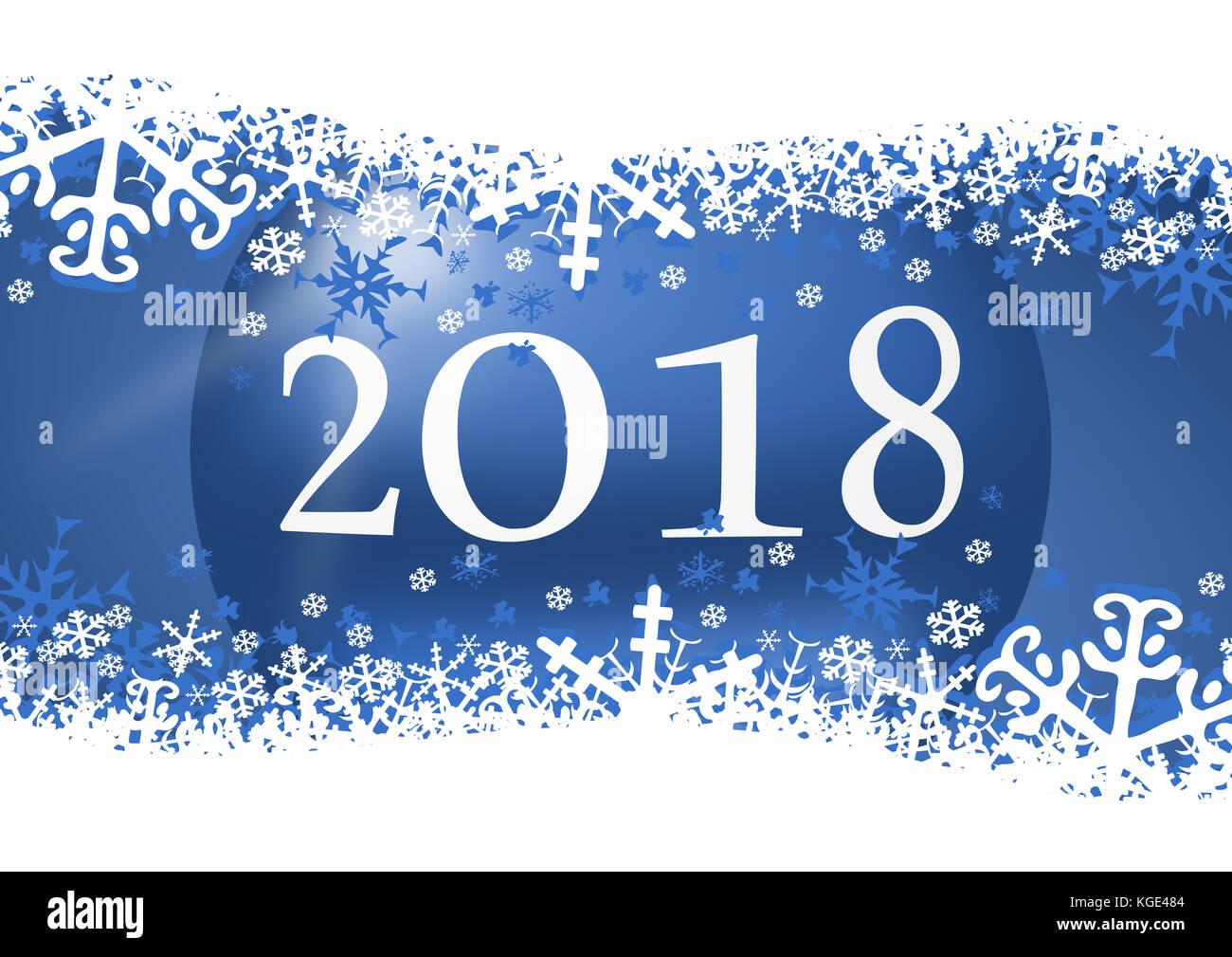 Happy New Year 2018 Greeting Stock Photos & Happy New Year