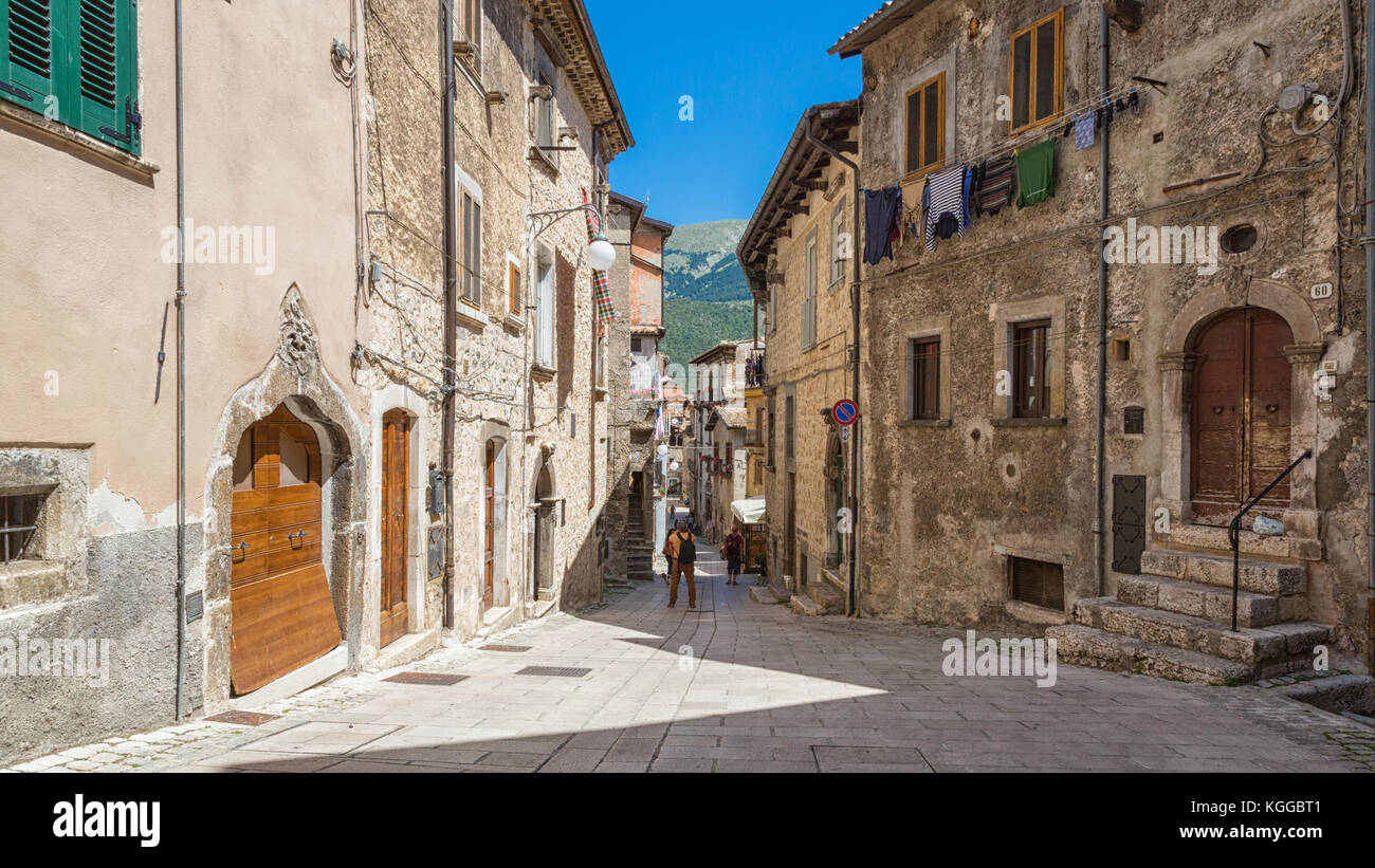Scanno (L'Aquila) - A view of the little ancient town - Stock Image