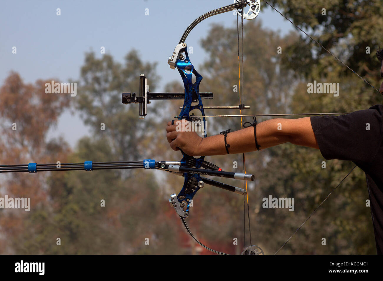 archers-at-an-archery-contest-in-the-university-campus-KGGMC1.jpg