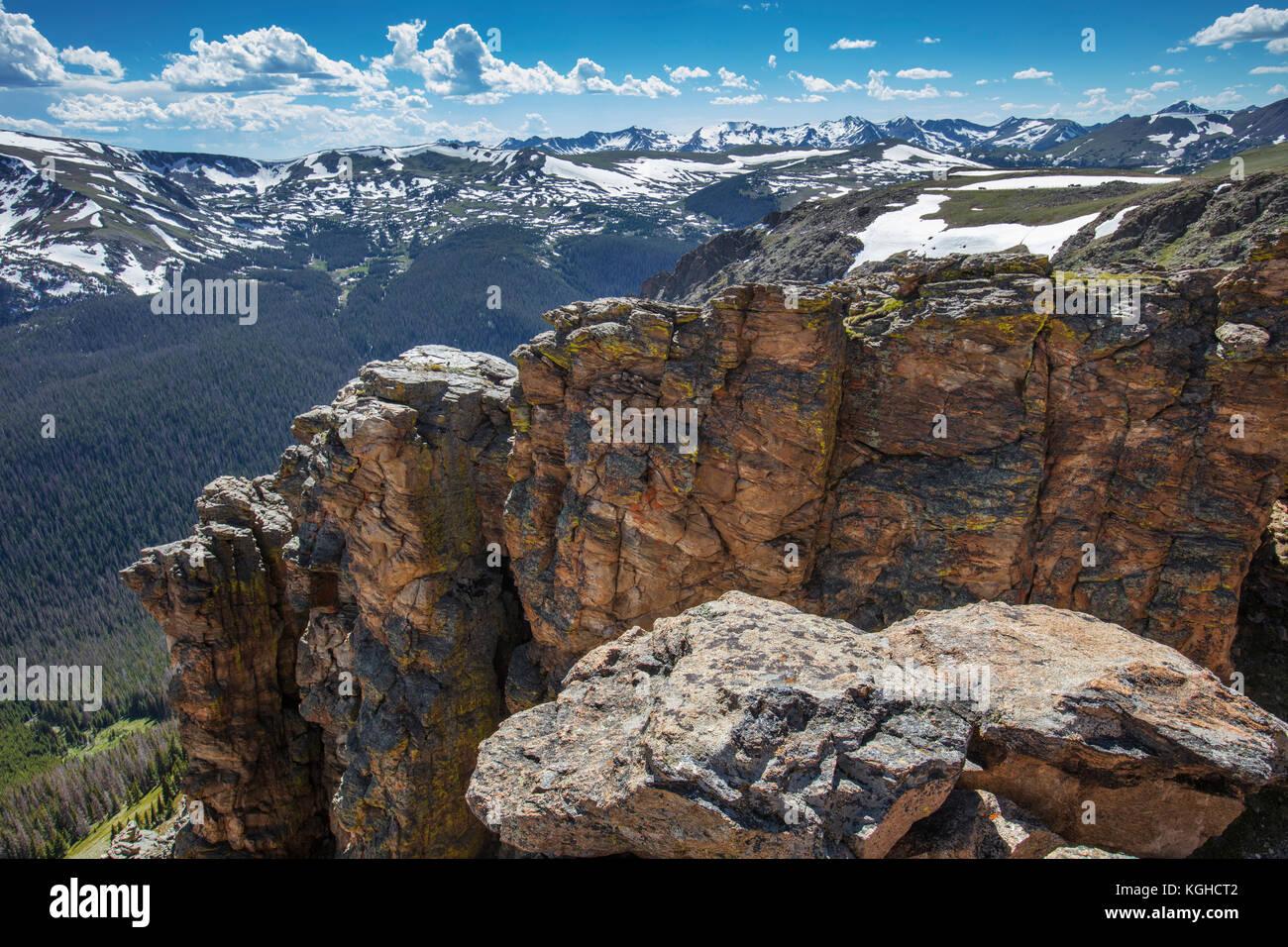 Exposed Strata, Rocky Mountain National Park, Colorado - Stock Image