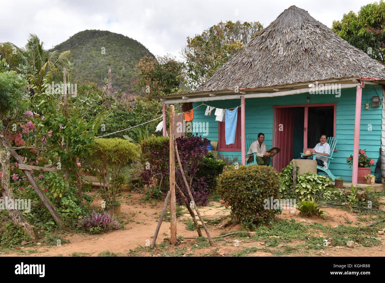Countryside house, Vinales, Pinar Del Rio, Cuba - Stock Image