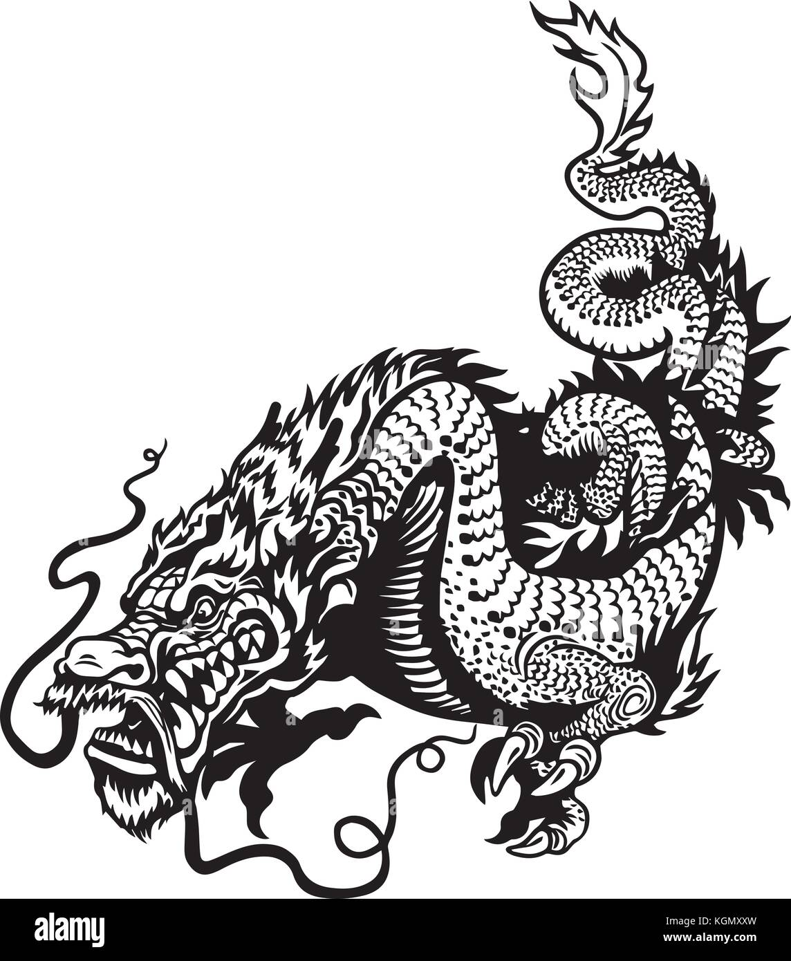 Japanese Dragon Tattoo Stock Photos Amp Japanese Dragon