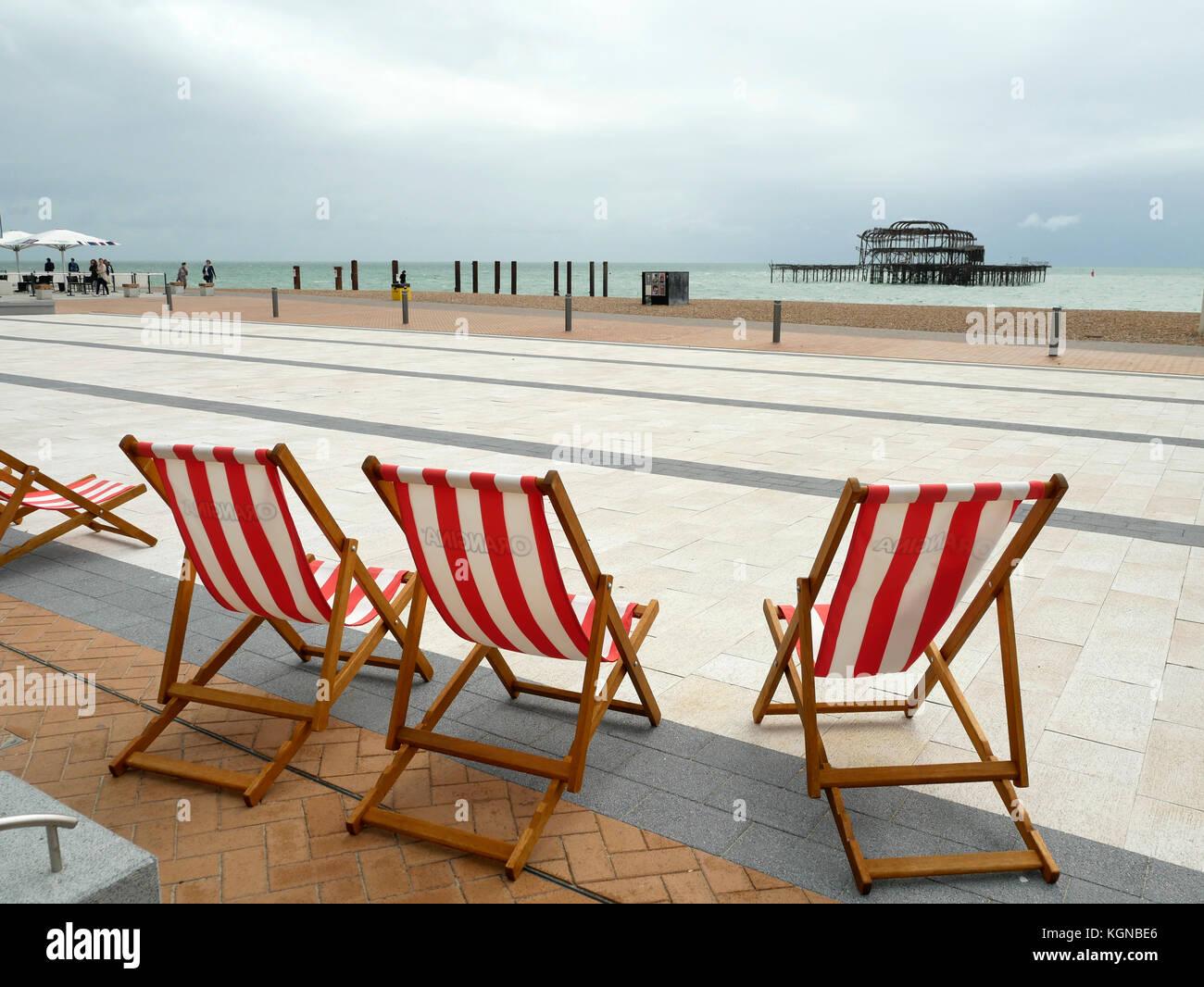 British Seaside Deck Chairs Stock Photos Amp British Seaside