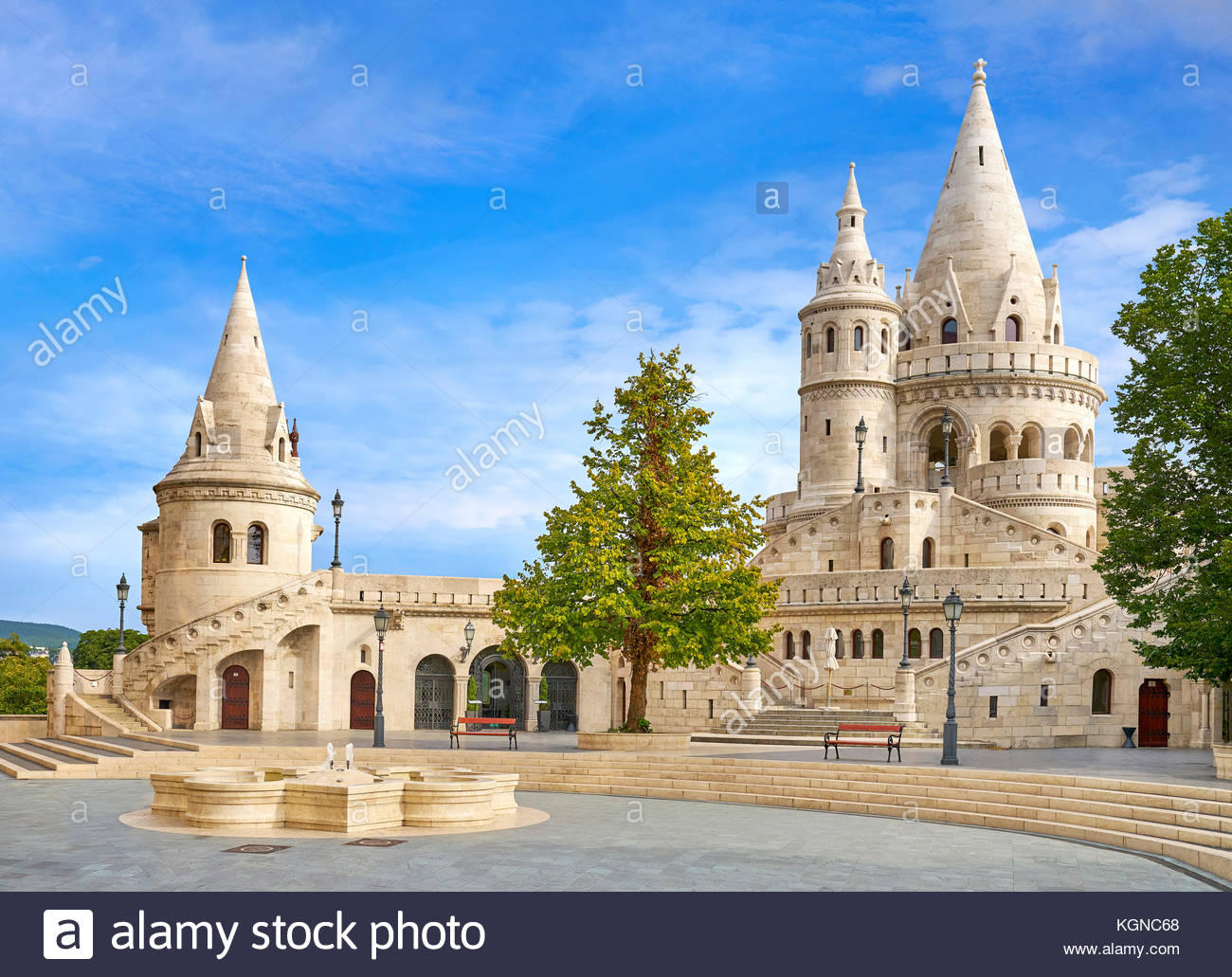 Fishermen Bastion, Budapest, Hungary - Stock Image