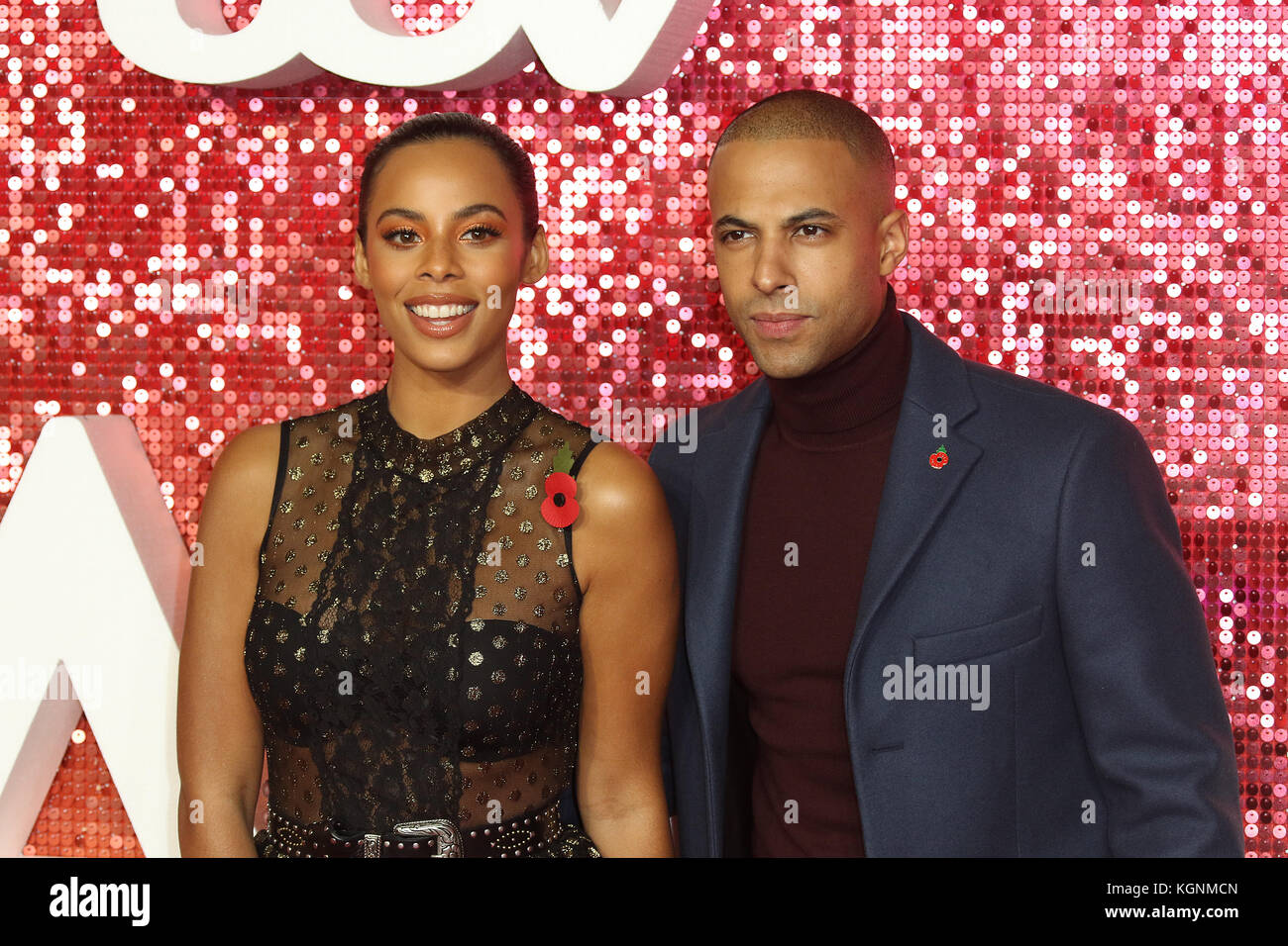 London, UK. 9th November, 2017. Rochelle Humes, Marvin Humes, ITV GALA, London Palladium, London, UK. 09th Nov, - Stock Image