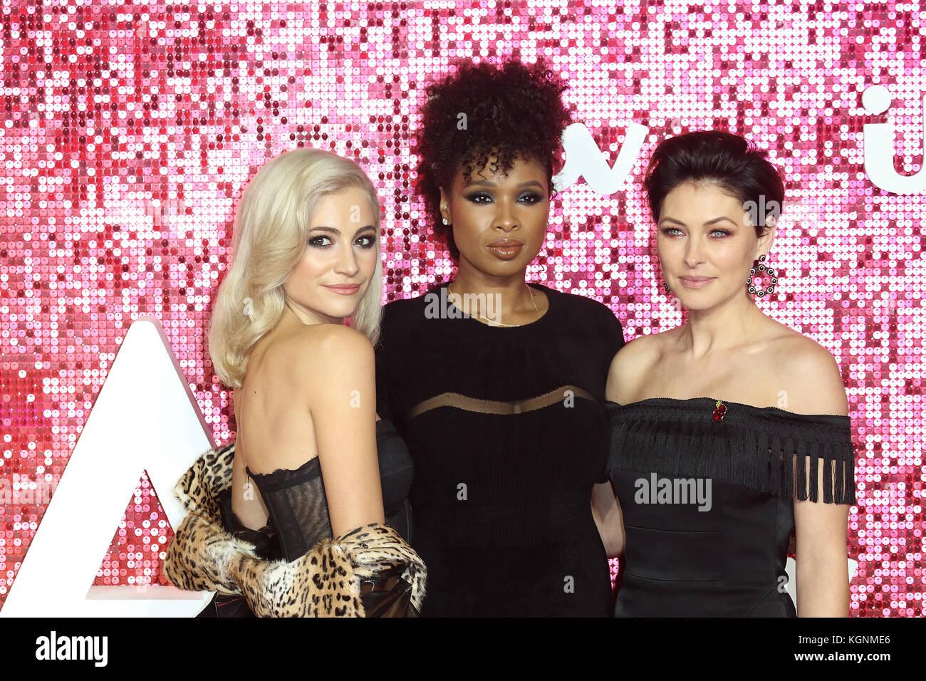 London, UK. 9th November, 2017. The Voice, Pixie Lott, Jennifer Hudson, Emma Willis, ITV GALA, London Palladium, - Stock Image