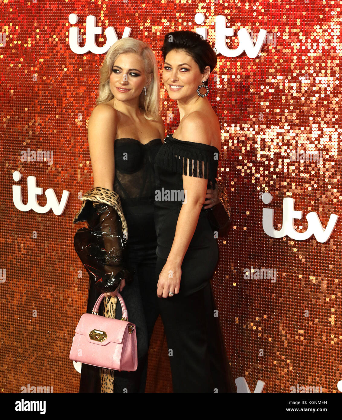 London, UK. 9th November, 2017. The Voice, Pixie Lott, Emma Willis, ITV GALA, London Palladium, London, UK. 09th - Stock Image