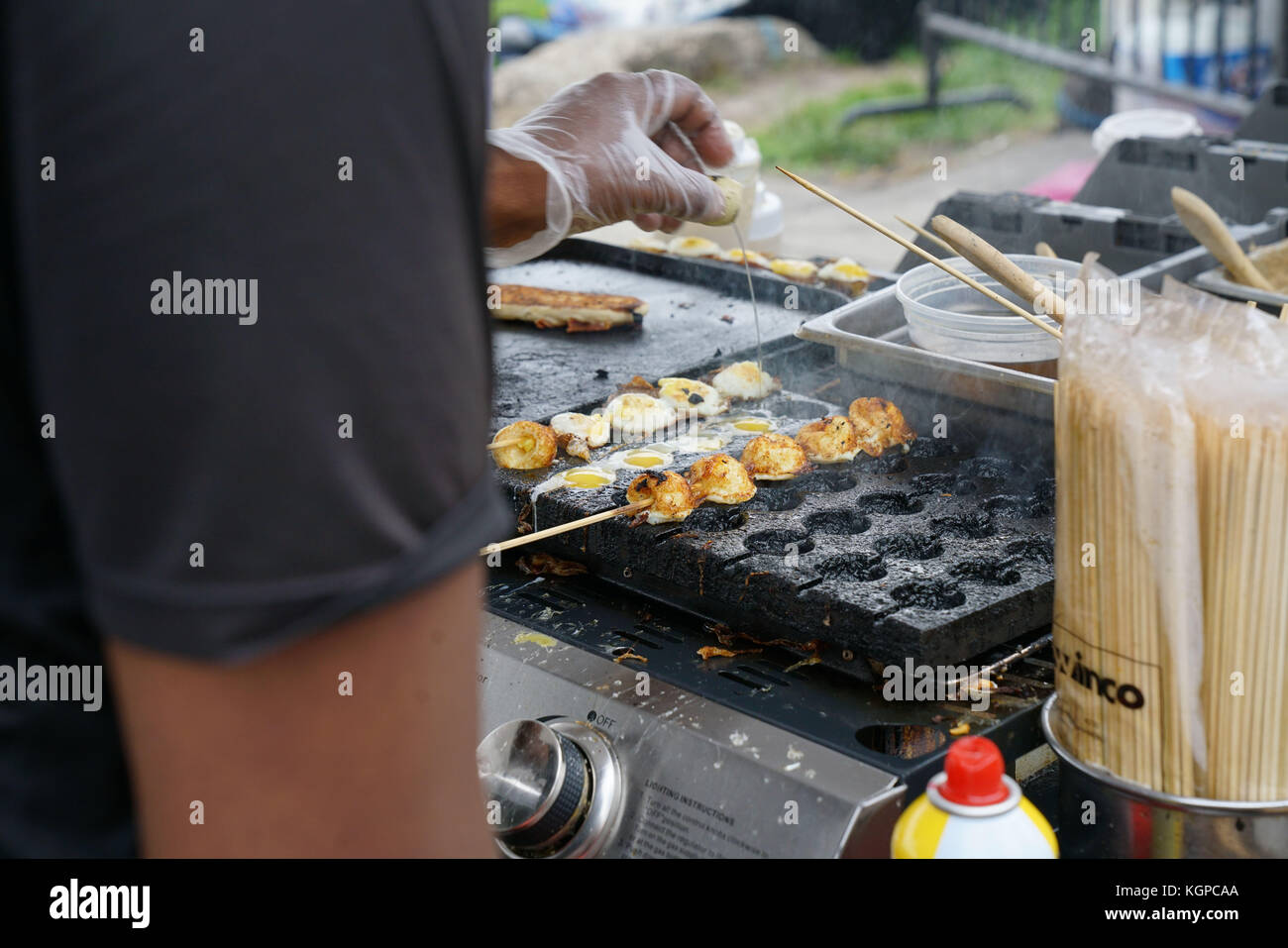 Streetfood stands in food festival, NYC - Stock Image
