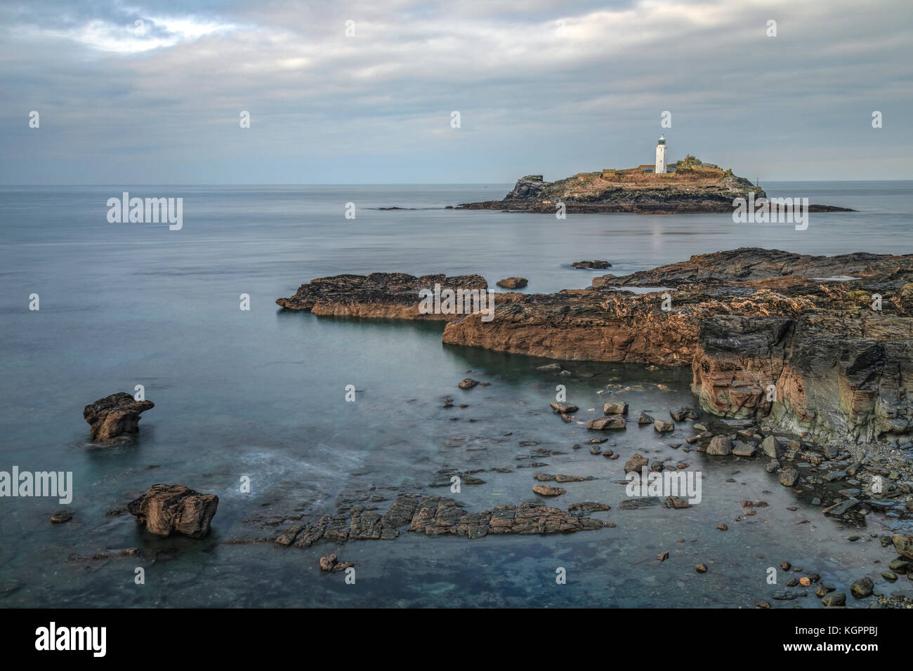 Godrevy Lighthouse Cornwall Uk Stock Photos Amp Godrevy