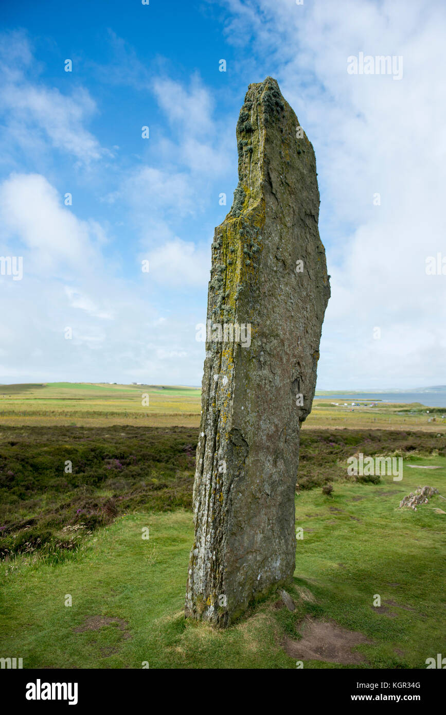 The Ring of Brodgar on the Orkney Islands in Scotland - Stock Image