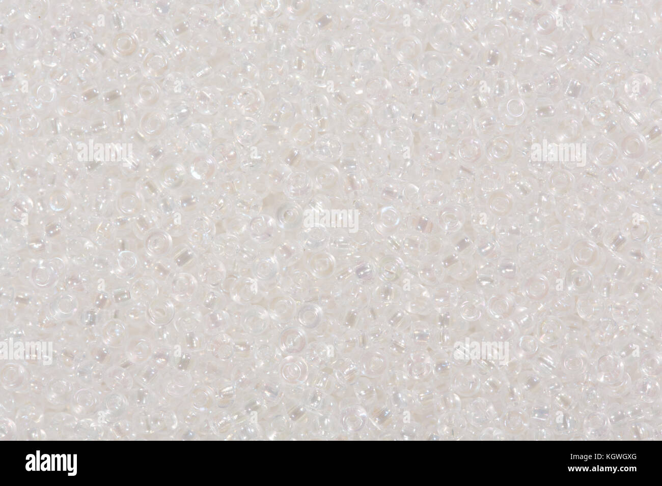 White seed beads. - Stock Image