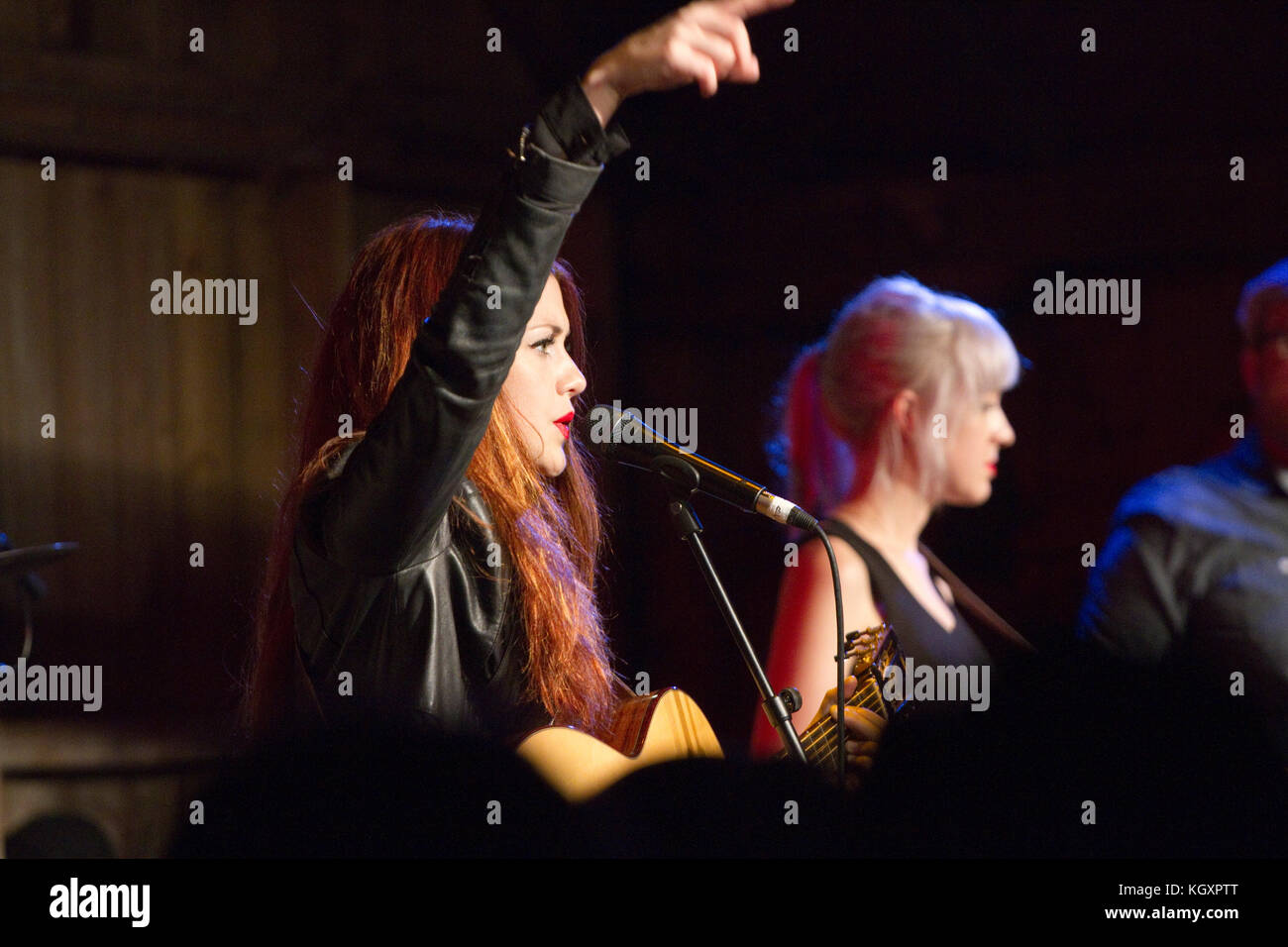 Band Larkin Poe at the Maverick Americana Festival - Stock Image