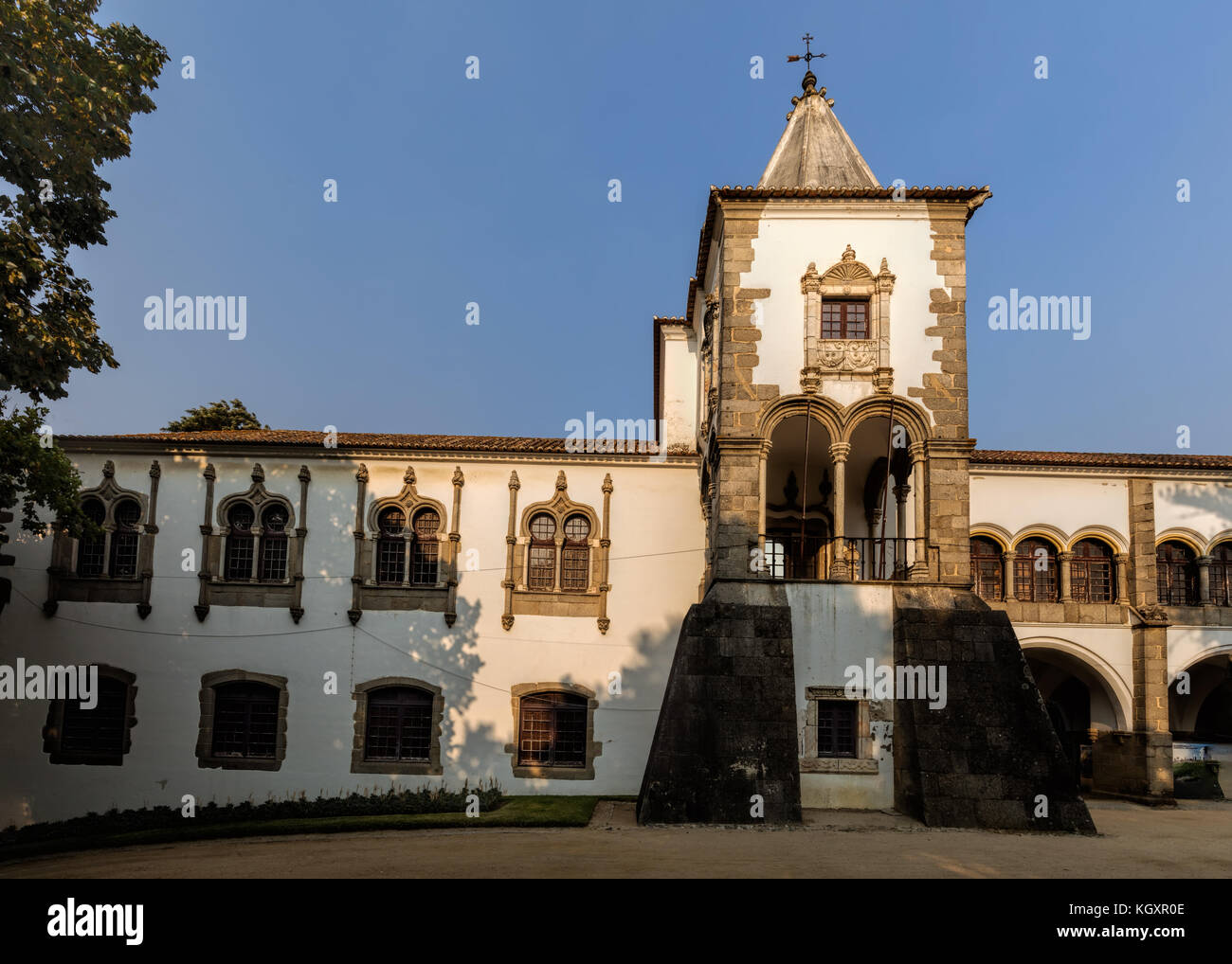 The Royal Palace of Evora, a former royal residence of the Kings of Portugal since the 14th century, one of the - Stock Image