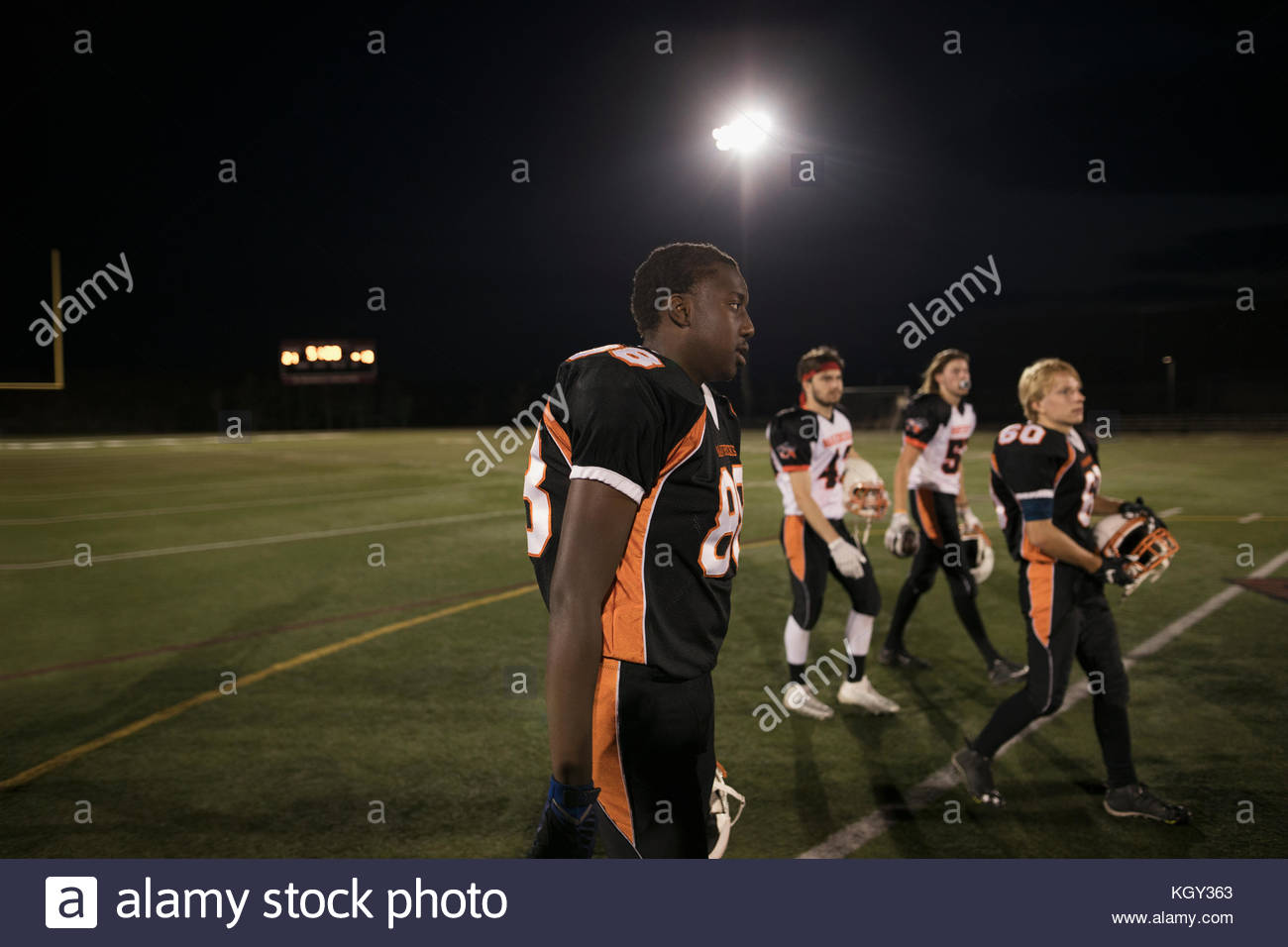 High school football field photography