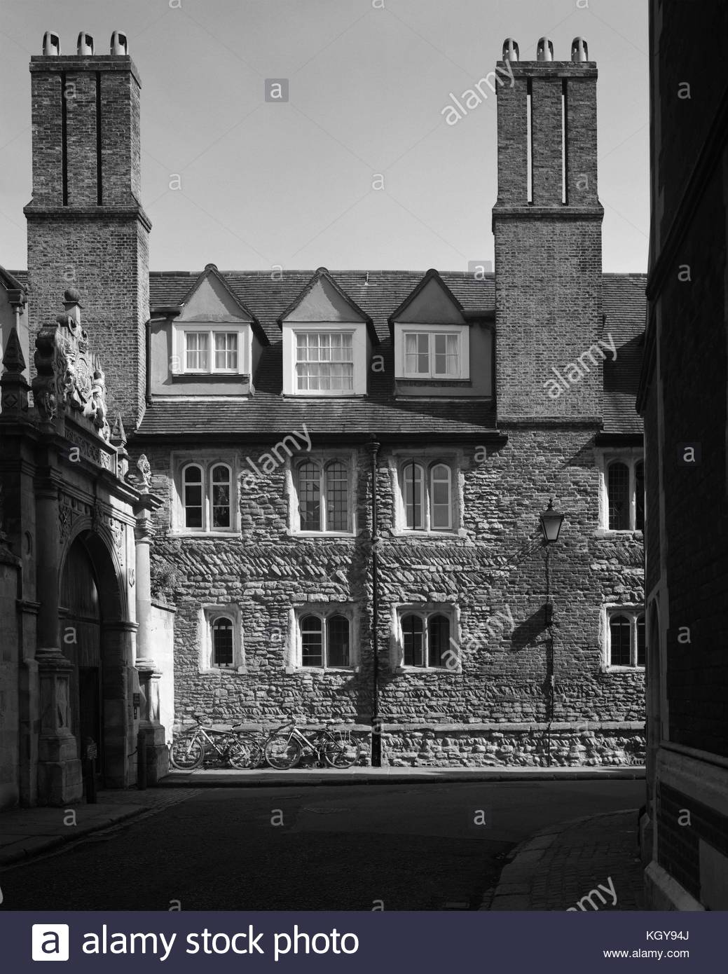 Side wall of Trinity College Cambridge - Stock Image
