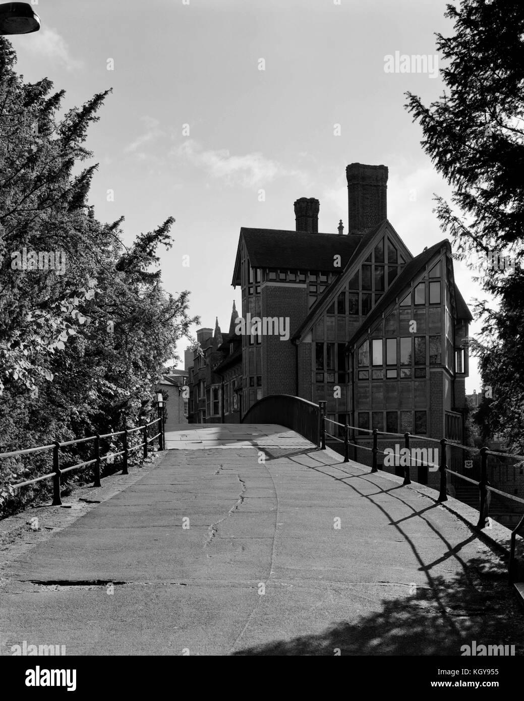 Jerwood Library and Garrett Hostel Bridge Cambridge - Stock Image