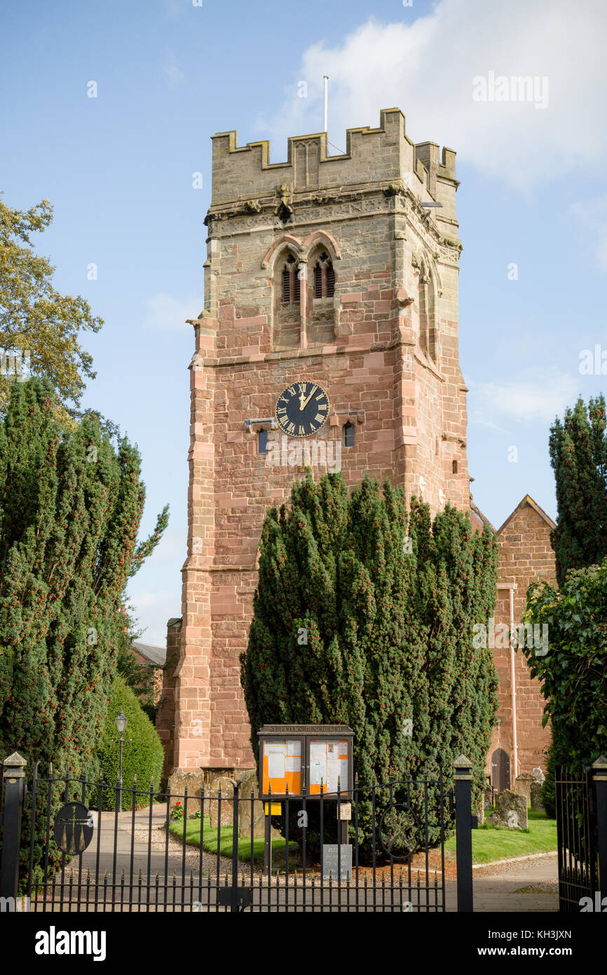 St Peter's Church in Dunchurch,Warwickshire - Stock Image