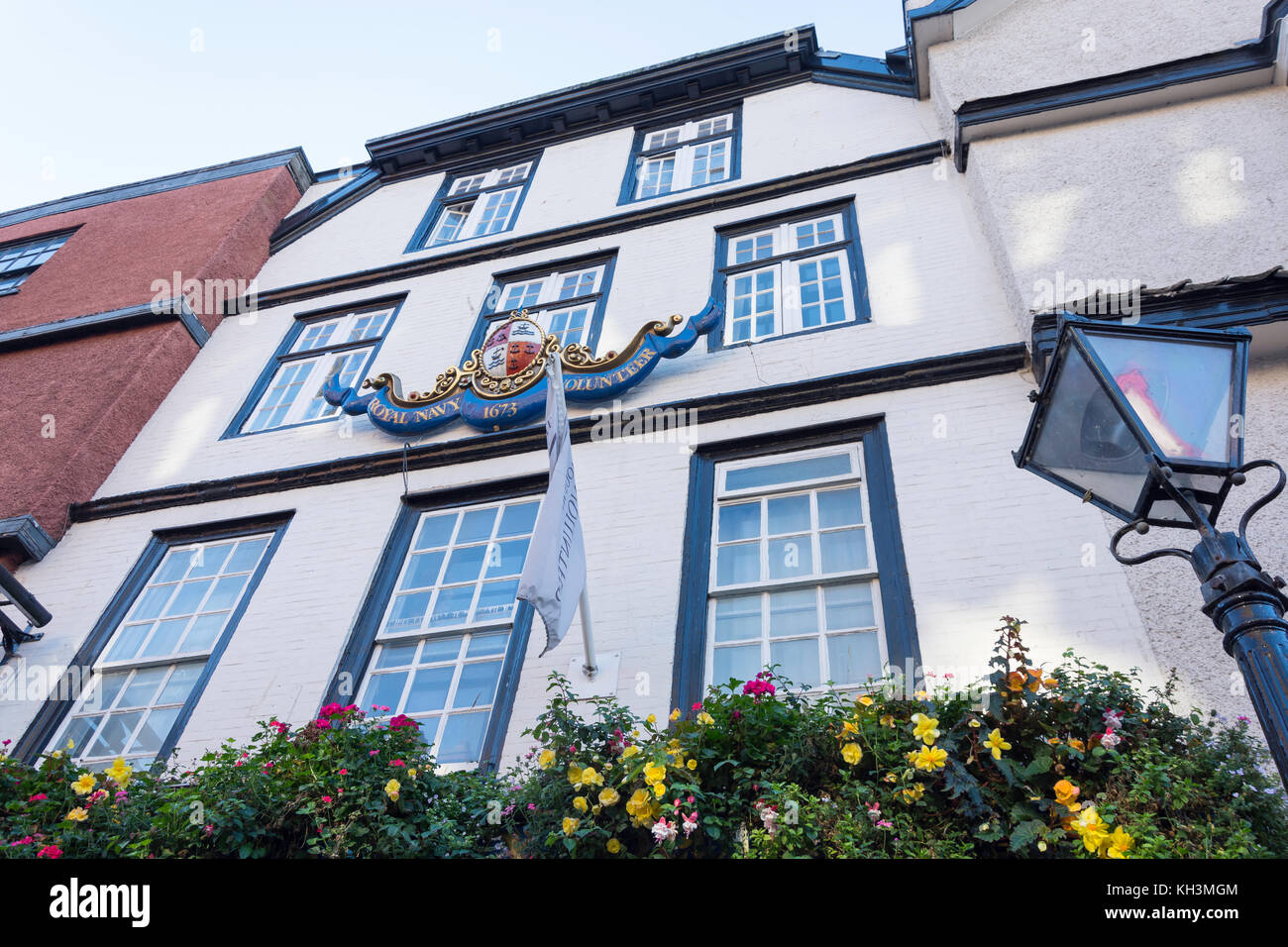 17th century The Famous Royal Navy Volunteer Pub, King Street, Old City, Bristol, England, United Kingdom - Stock Image