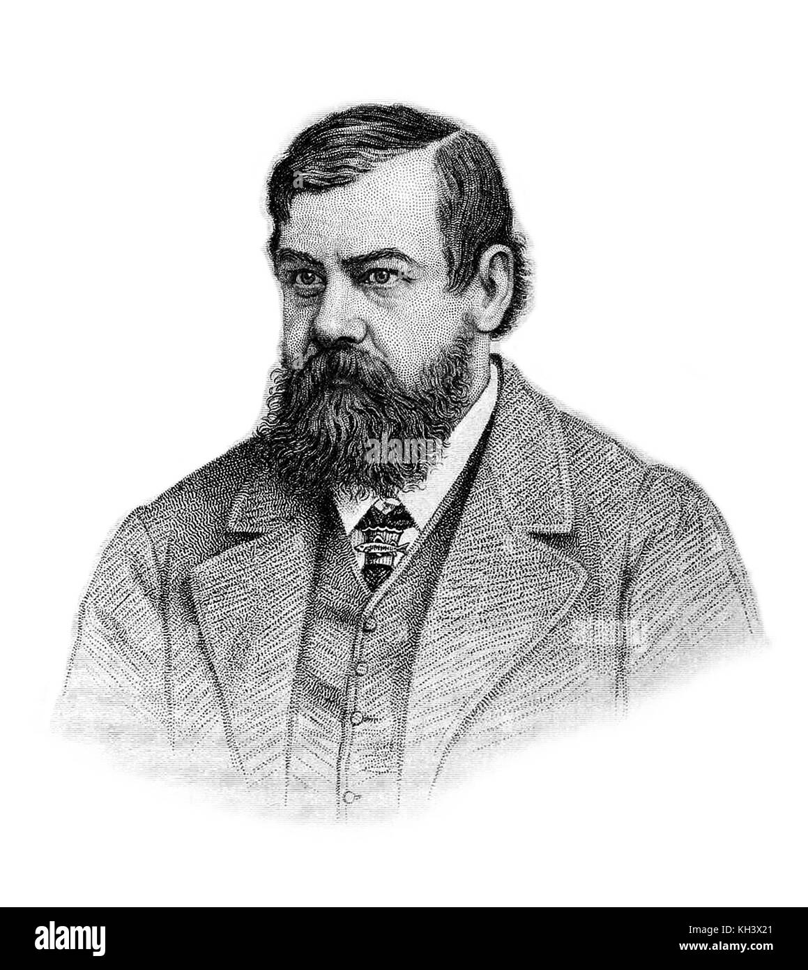 Francis Trevelyan Buckland, known as Frank Buckland, English surgeon, author and natural historian - Stock Image