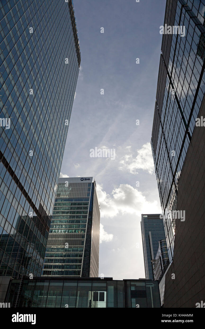 Building at Canary Wharf, London - Stock Image