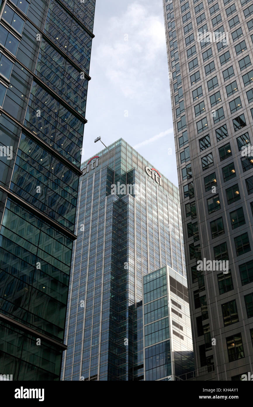 Citi building in Canary Wharf, London - Stock Image