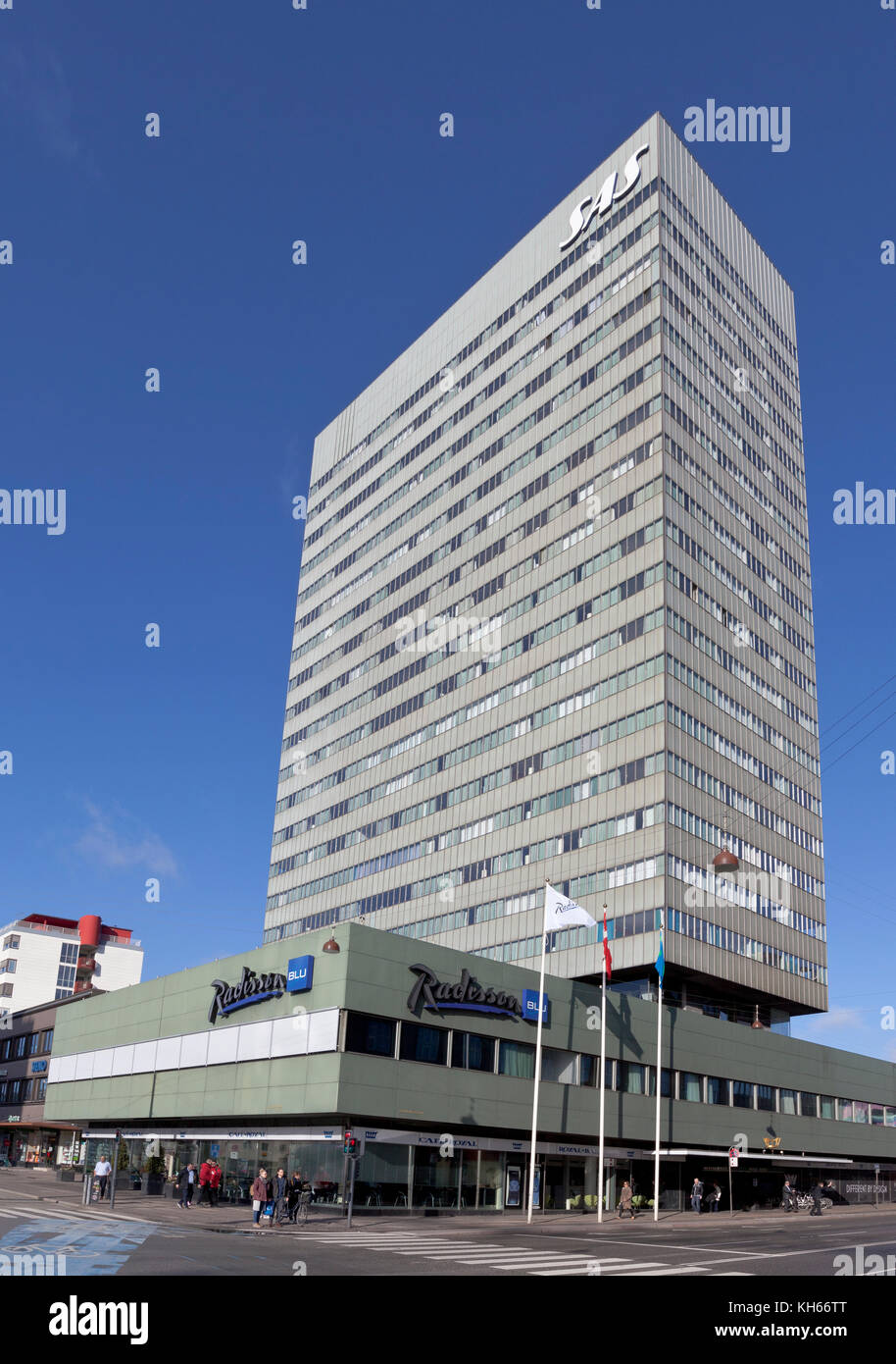 The Radisson Blu Royal Hotel, or just the SAS Hotel, at Vesterbrogade in Copenhagen, Denmark. - Stock Image