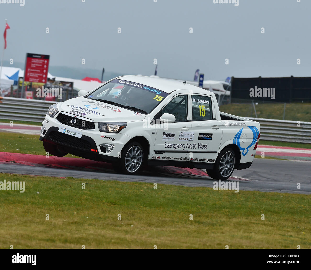 Glenn Broster, SsangYong  Musso, SsangYong Racing Challenge, Mini Festival, MSVR, Snetterton, May 2017, vehicles, - Stock Image
