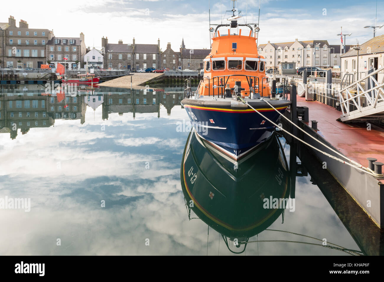 Kirkwall RNLI Lifeboat Margaret Foster in Kirkwall harbour, Orkney, Scotland, UK - Stock Image