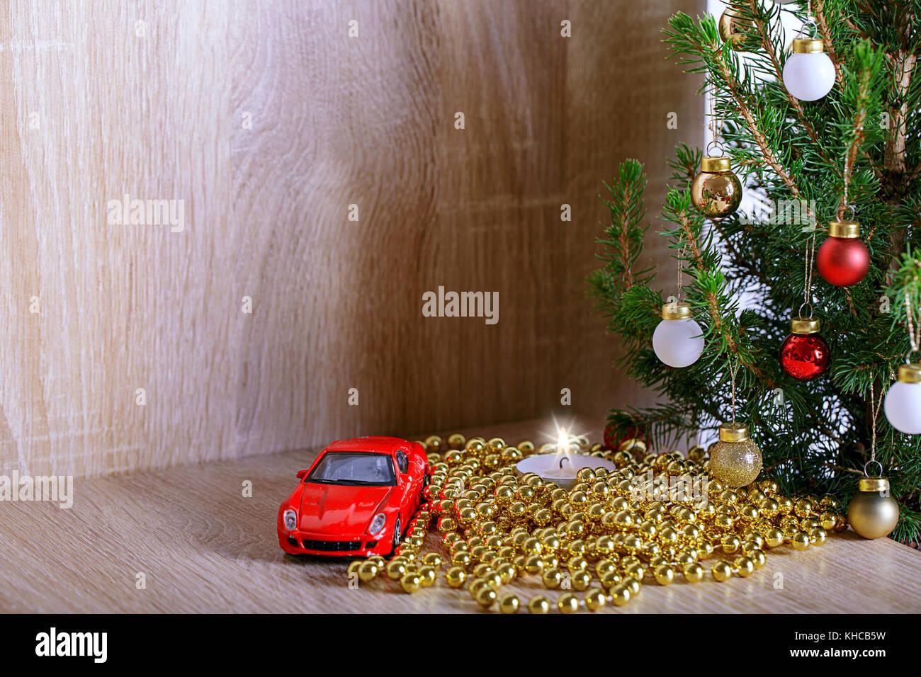 Car Christmas Tree Stock Photos & Car Christmas Tree Stock