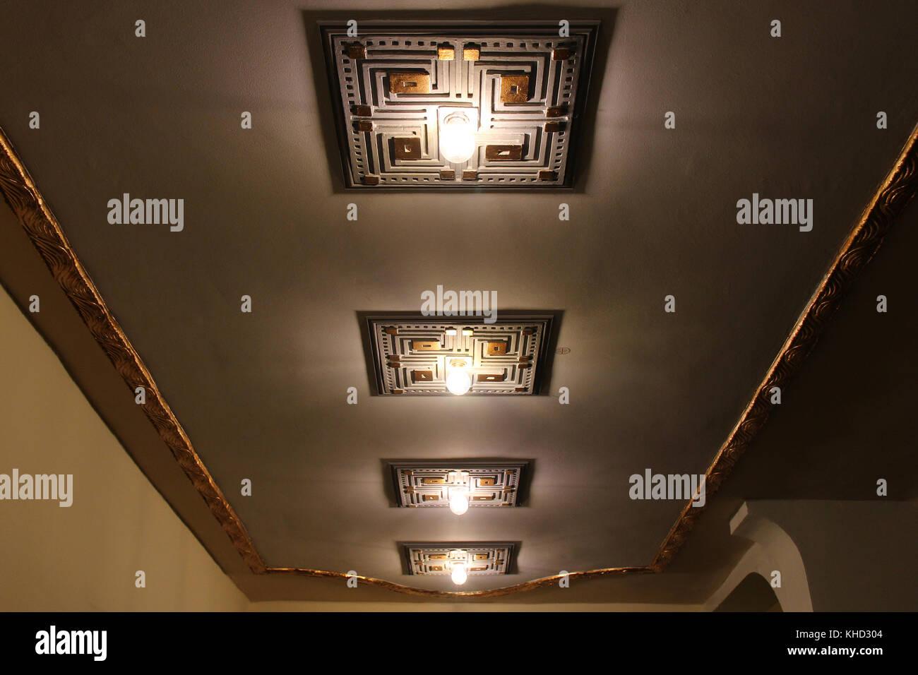 art deco cinema interior stock photos art deco cinema interior stock images alamy. Black Bedroom Furniture Sets. Home Design Ideas