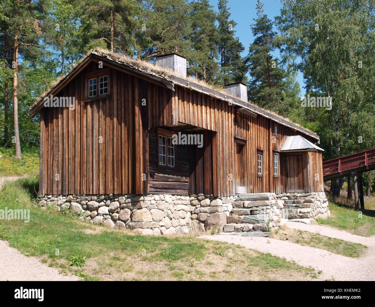 Caban stock photos caban stock images alamy - Norwegian wood houses ...