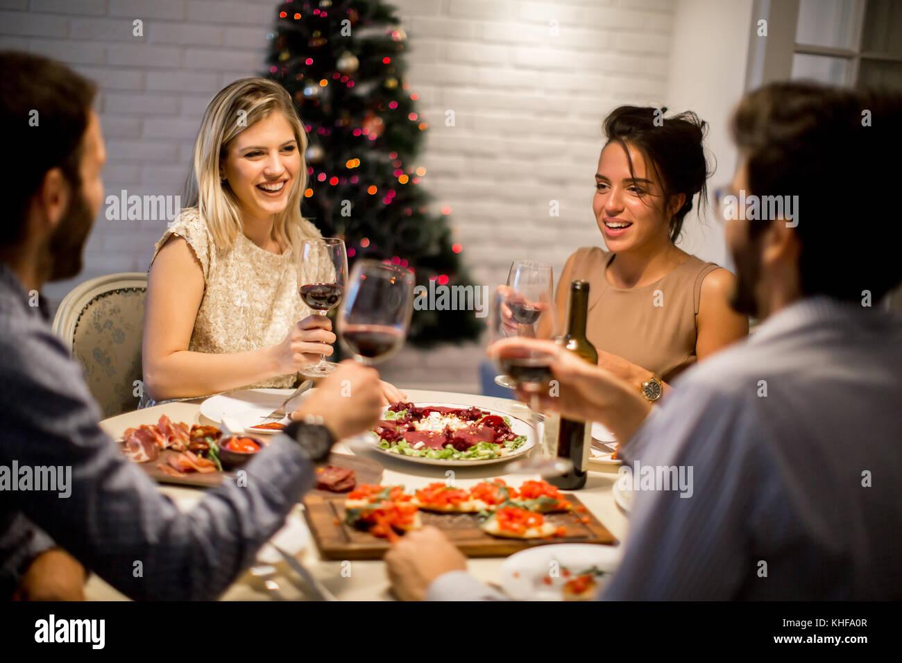 Women Friends Talking Christmas Stock Photos Amp Women