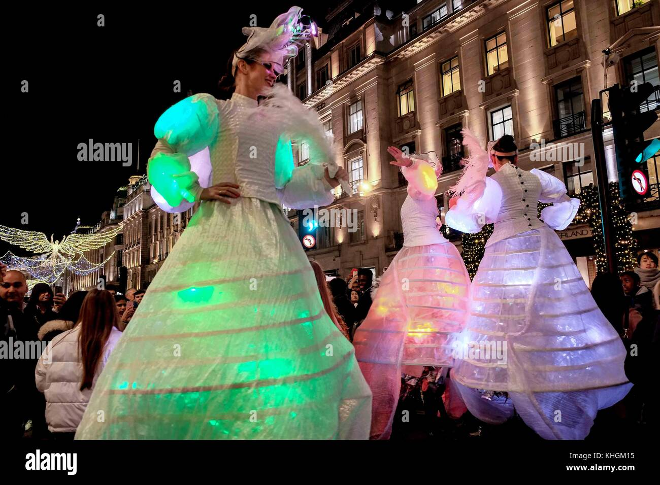 London, UK. 16th Nov, 2017. The largest lights installation in London with 300,000 LED lights 'The Spirit of Christmas' - Stock Image