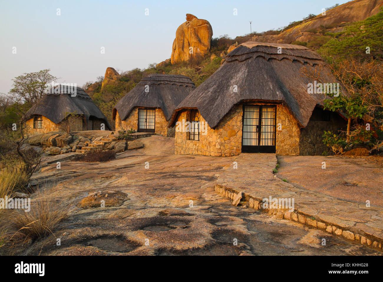 Matobo Hills,  ZIMBABWE -  17 October 2011:  Self contained  accomodation at Matobo Hills Lodge in Matopos National - Stock Image