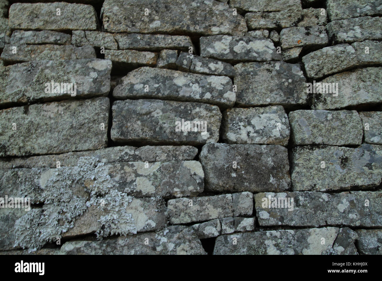 Great Zimbabwe - 16 October 2011: Details of the graphite rock wall that is the Great Zimbabwe. . Credit: David - Stock Image