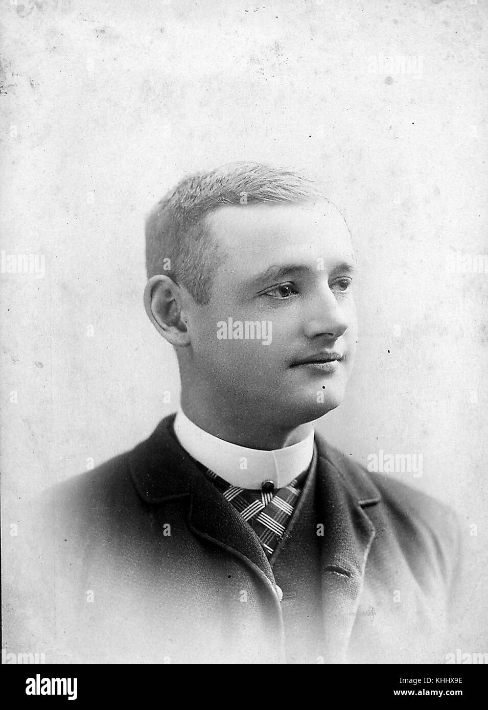 Portrait of George Pinkney, a third baseman for the Cleveland Blues (1884), Brooklyn Grays/Bridegrooms/Grooms(188591), - Stock Image