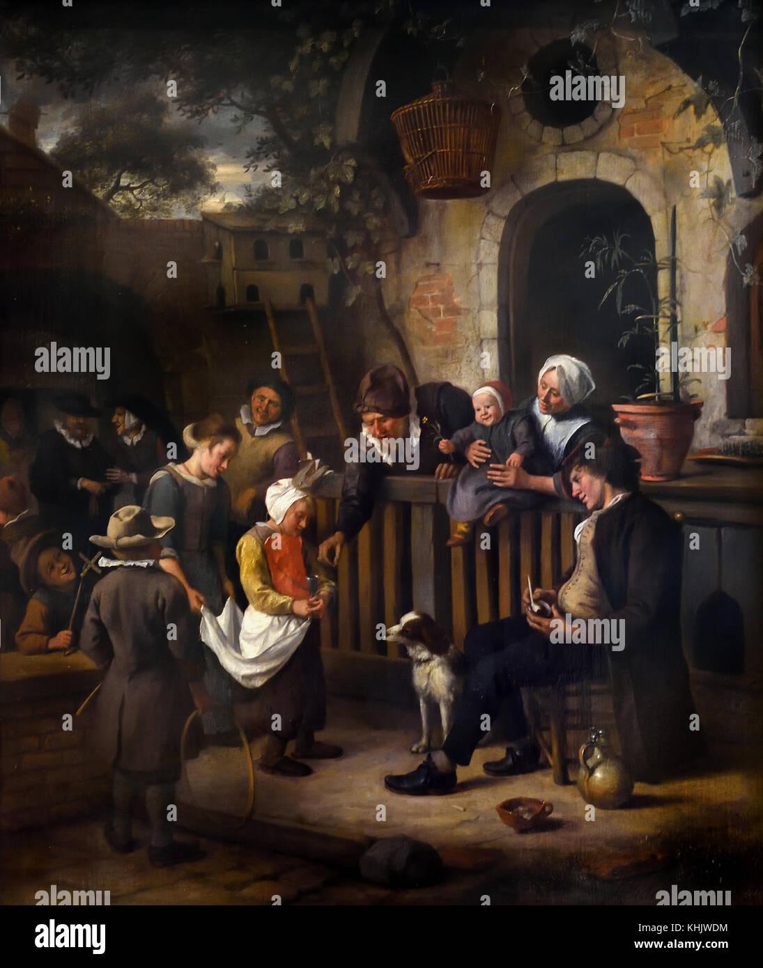 The Little Alms Collector 1663 Jan Steen 1626 - 1679, Dutch, The  Netherlands Dutch The Netherlands ( Pentecostal - Stock Image