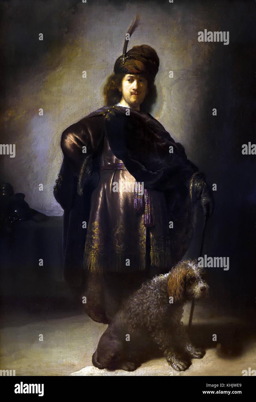 Self-portrait in Oriental Attire 1636 Rembrandt Harmenszoon van Rijn 1606–1669 Dutch, The Netherlands. - Stock Image