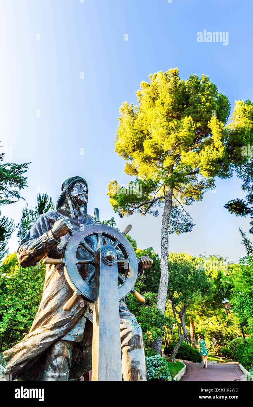 Europe. Principality of Monaco (98), Monte Carlo. François Grimaldi 'the wily' Malizia in Italian. - Stock Image