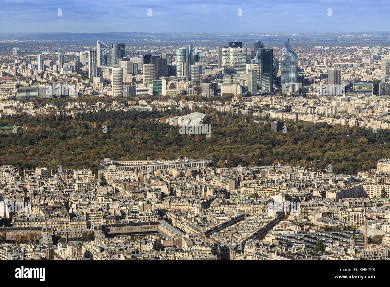 Paris,France,panorama from the Tour Eiffel - Stock Image