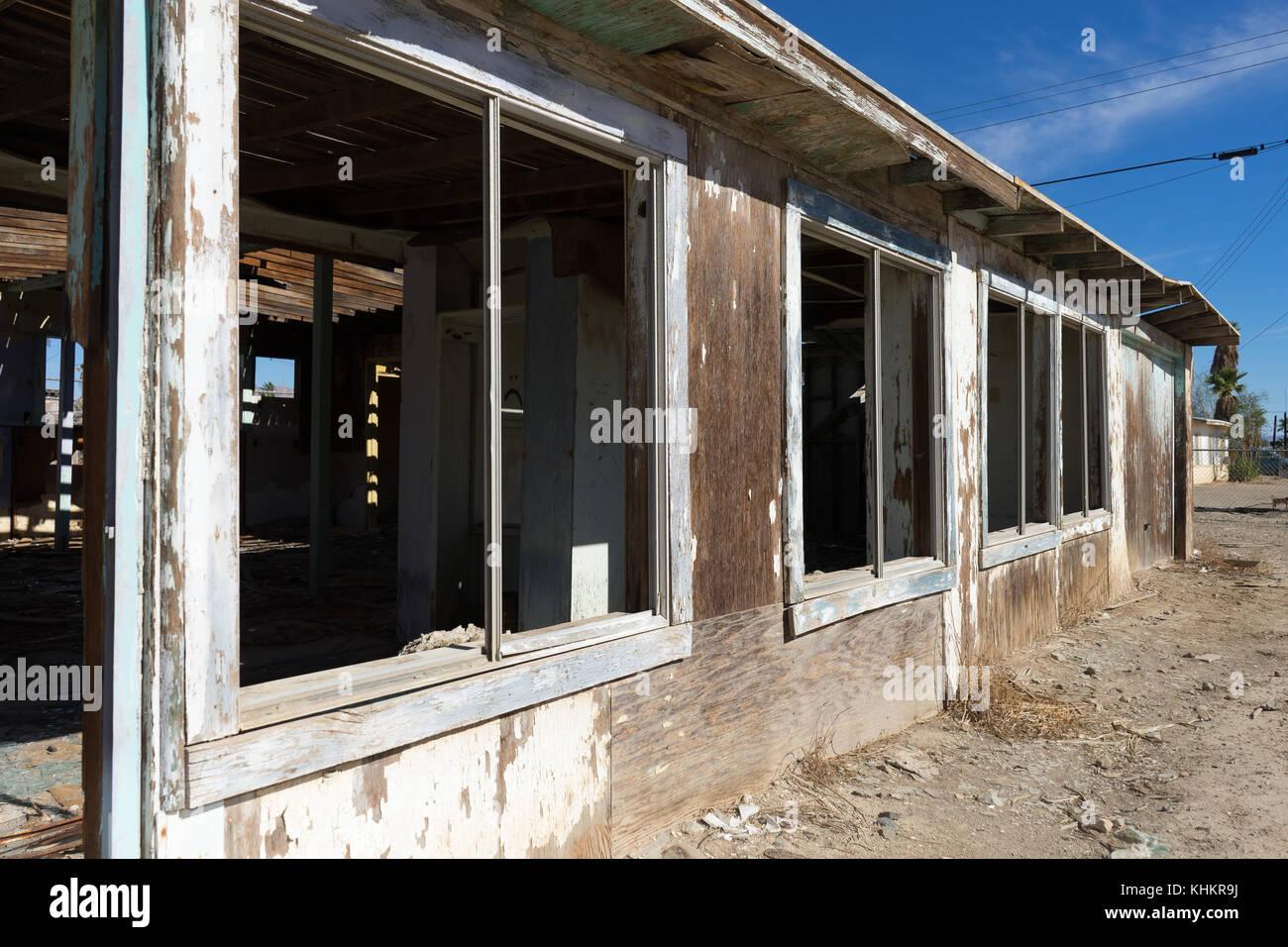 the abandoned Bombay Beach California - Stock Image