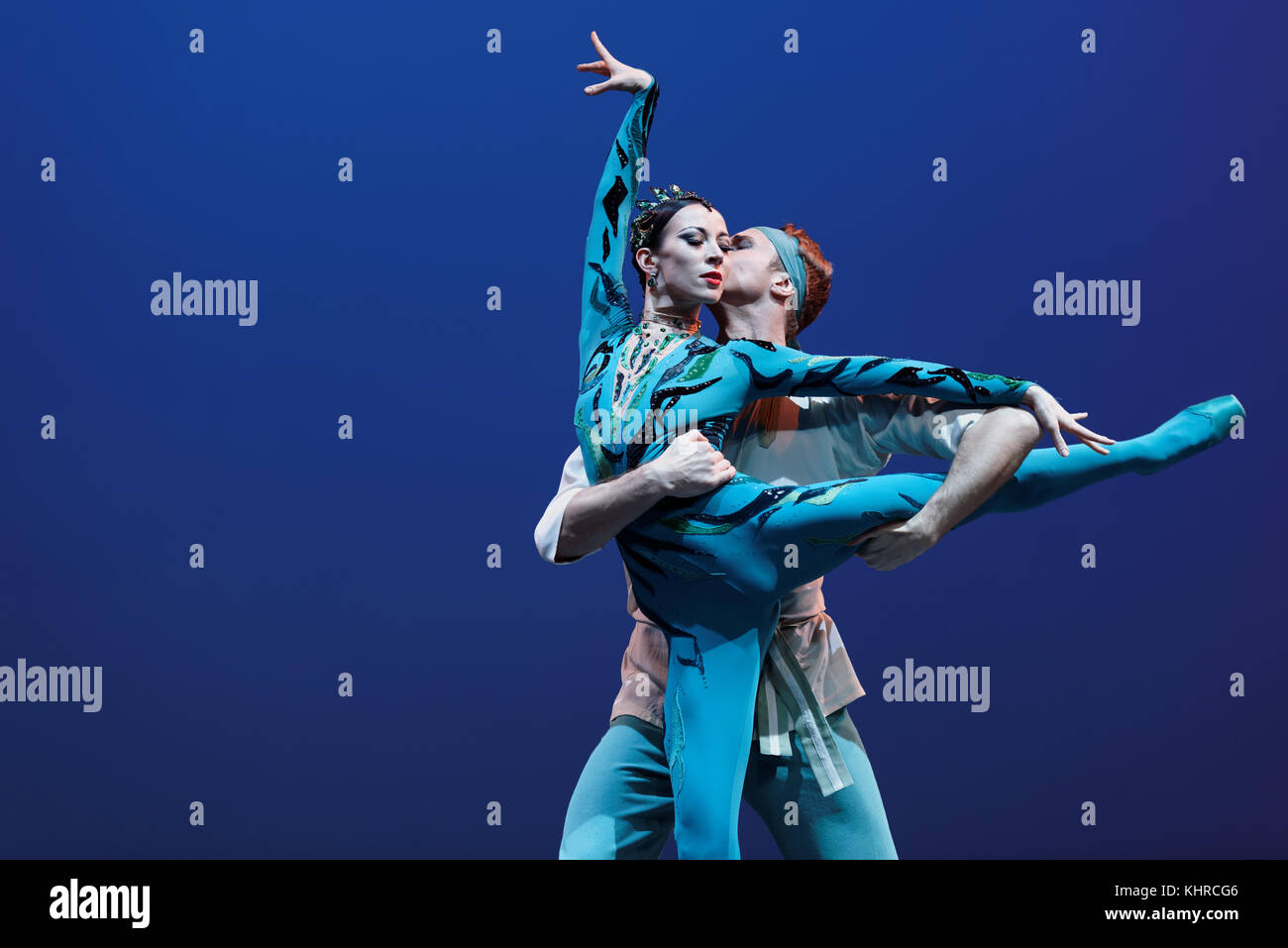 St. Petersburg, Russia - November 16, 2017: Ballet soloists of Mariinsky theater Viktoria Tereshkina and Andrei - Stock Image