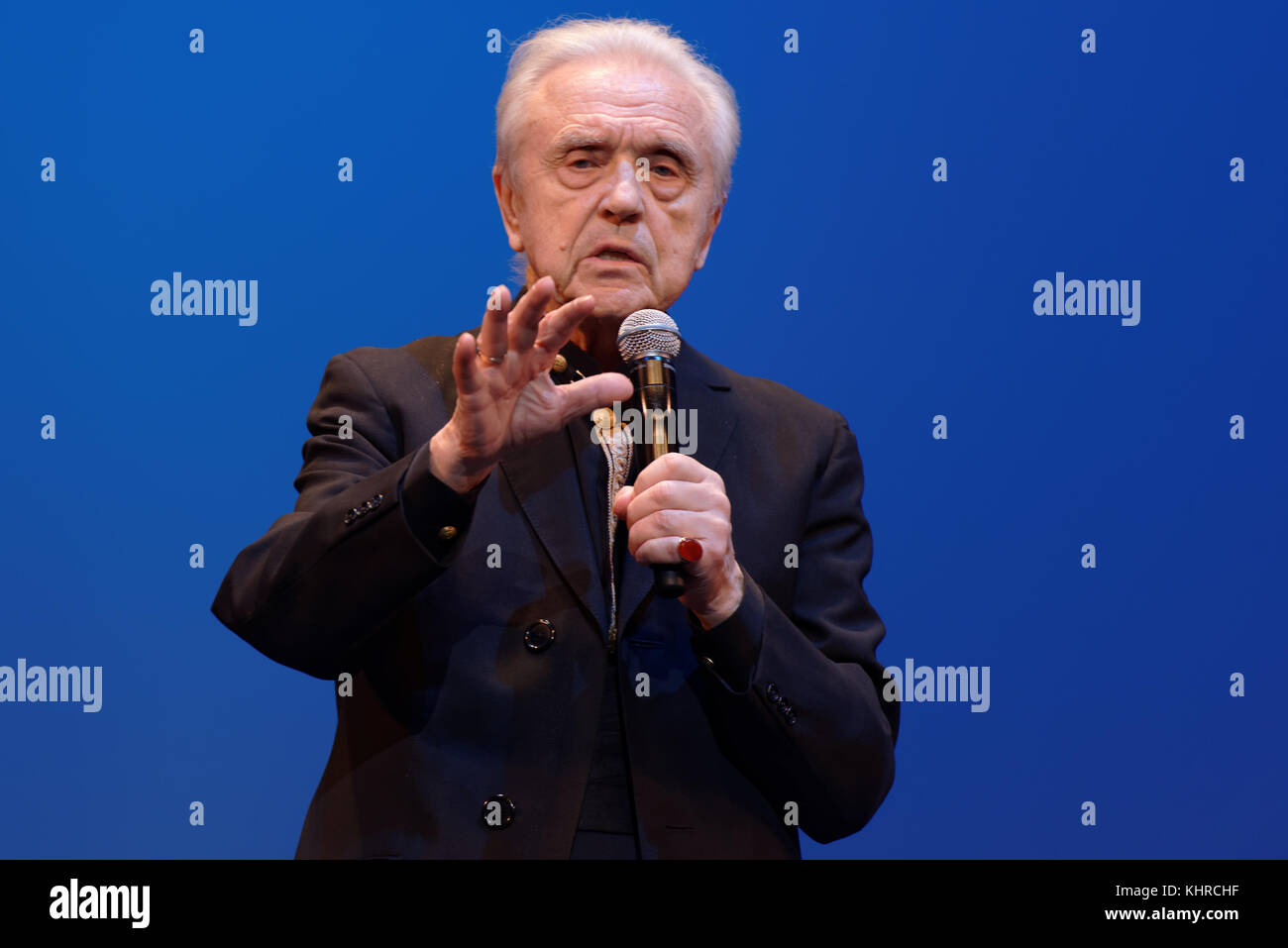 St. Petersburg, Russia - November 16, 2017: Choreographer Oleg Vinogradov during his anniversary gala concert. Great - Stock Image