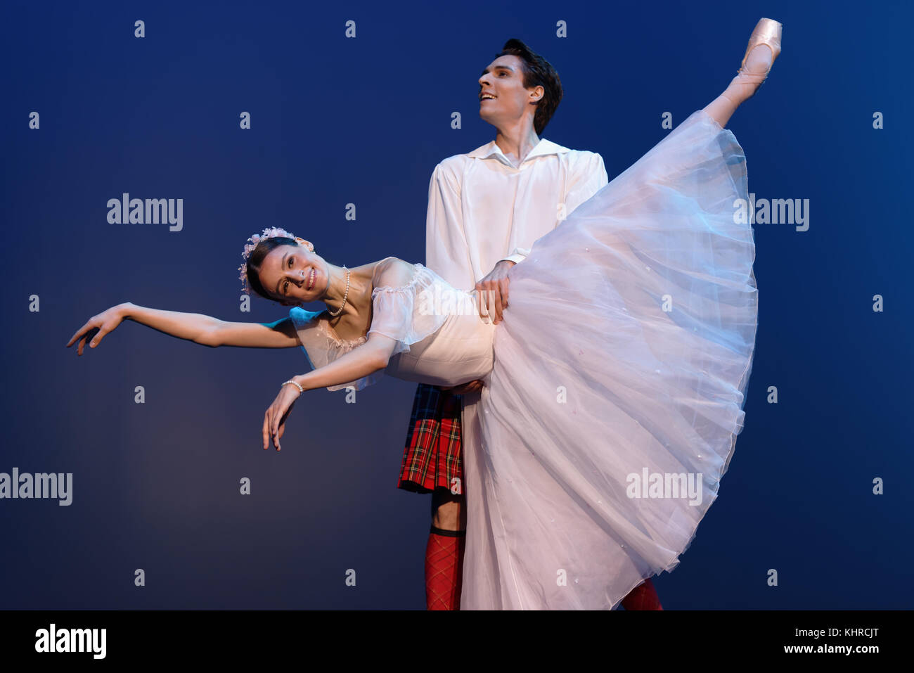 St. Petersburg, Russia - November 16, 2017: Ballet soloists of Mariinsky theater Kristina Shapran and Timur Askerov - Stock Image