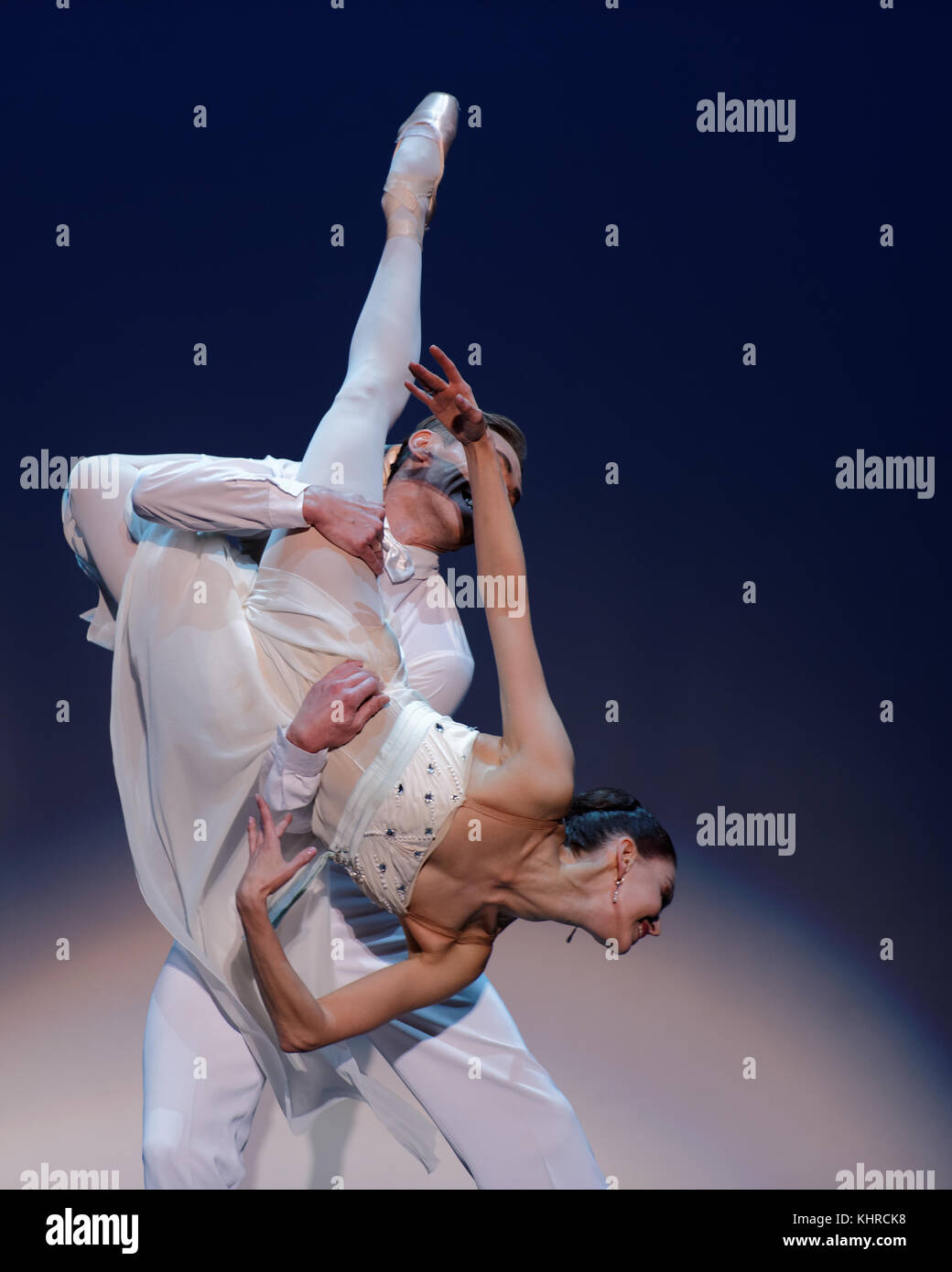 St. Petersburg, Russia - November 16, 2017: Ballet soloists of Mariinsky theater Anastasia Matvienko and Igor Kolb - Stock Image