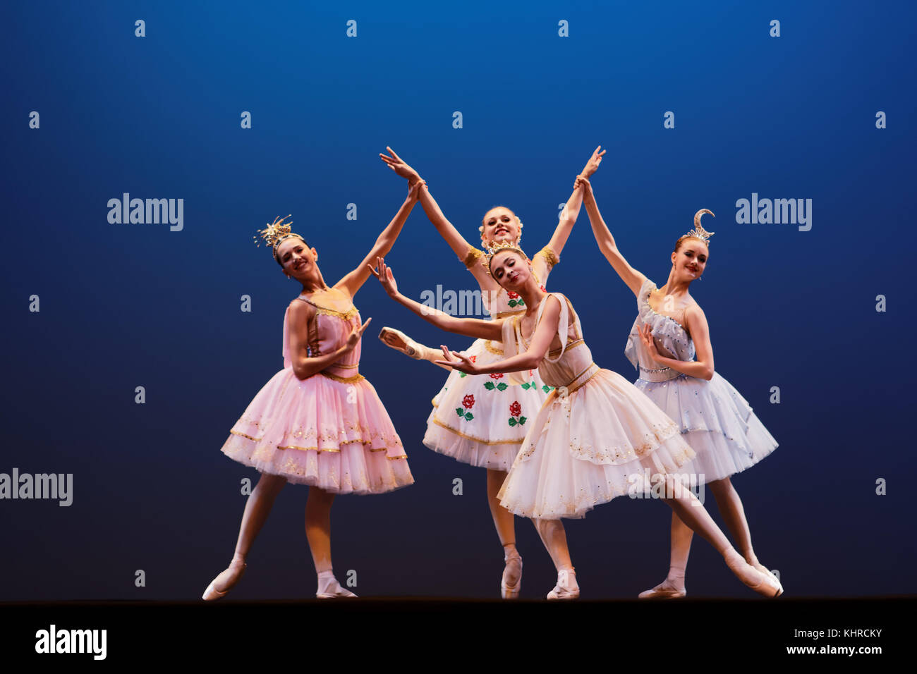 St. Petersburg, Russia - November 16, 2017: Students of Vaganova Ballet Academy perform during anniversary gala - Stock Image